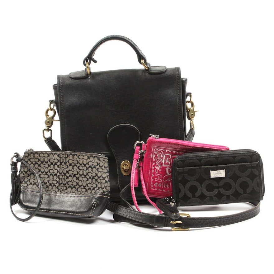 Coach Wristlets and Leather Crossbody Bag   EBTH 1d16f22367085