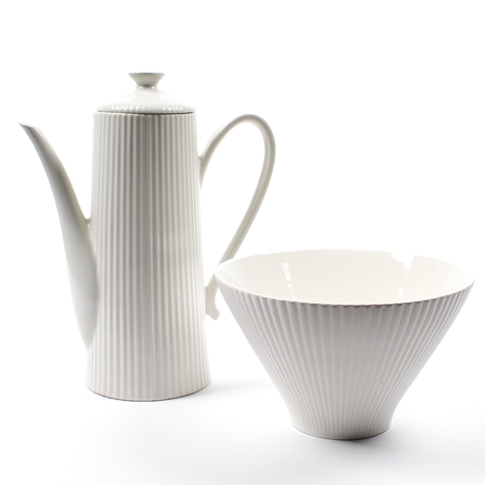 Ernest Sohn Coffee Pot and Serving Bowl