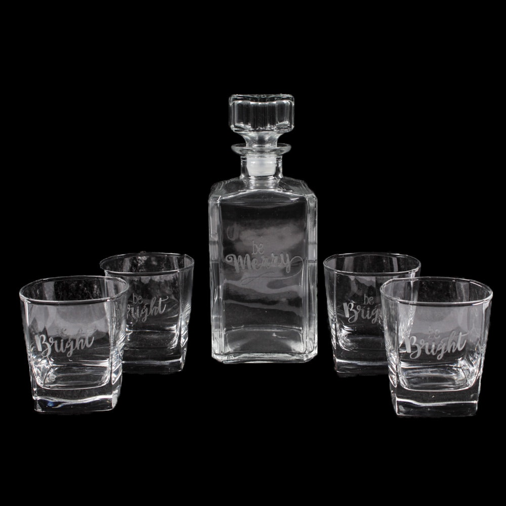 Seasonal Decanter and Old Fashioned Glasses