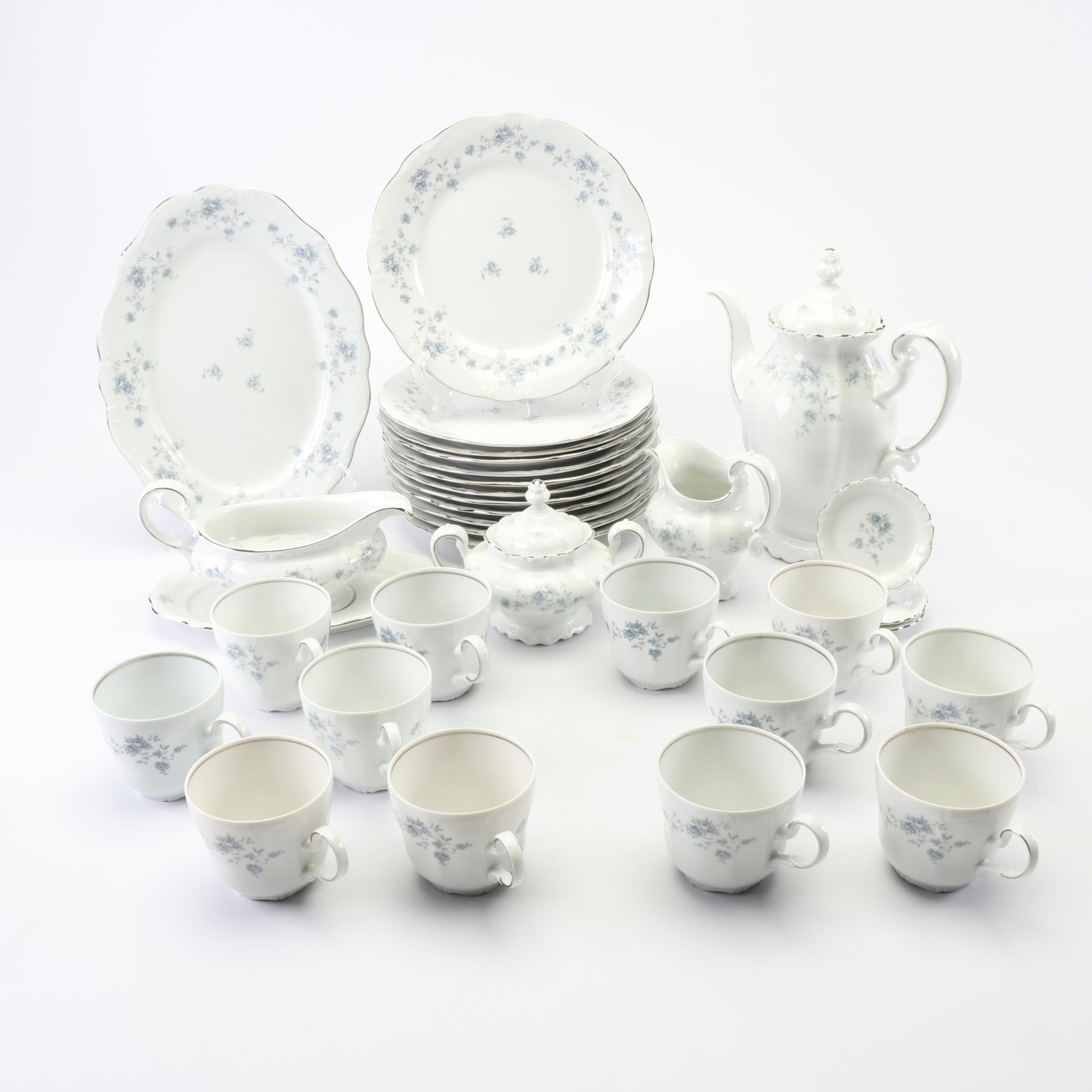 "Johann Haviland ""Blue Garland"" Porcelain Dinnerware, Late 20th Century"