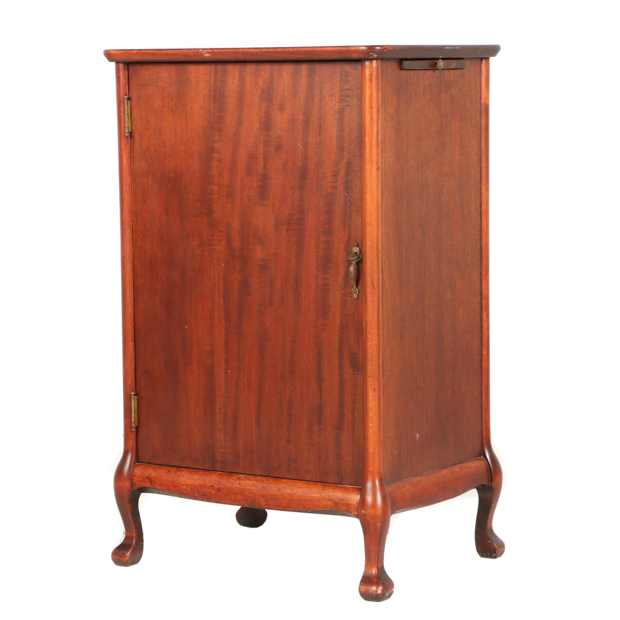 Mahogany Record Cabinet, Early 20th Century