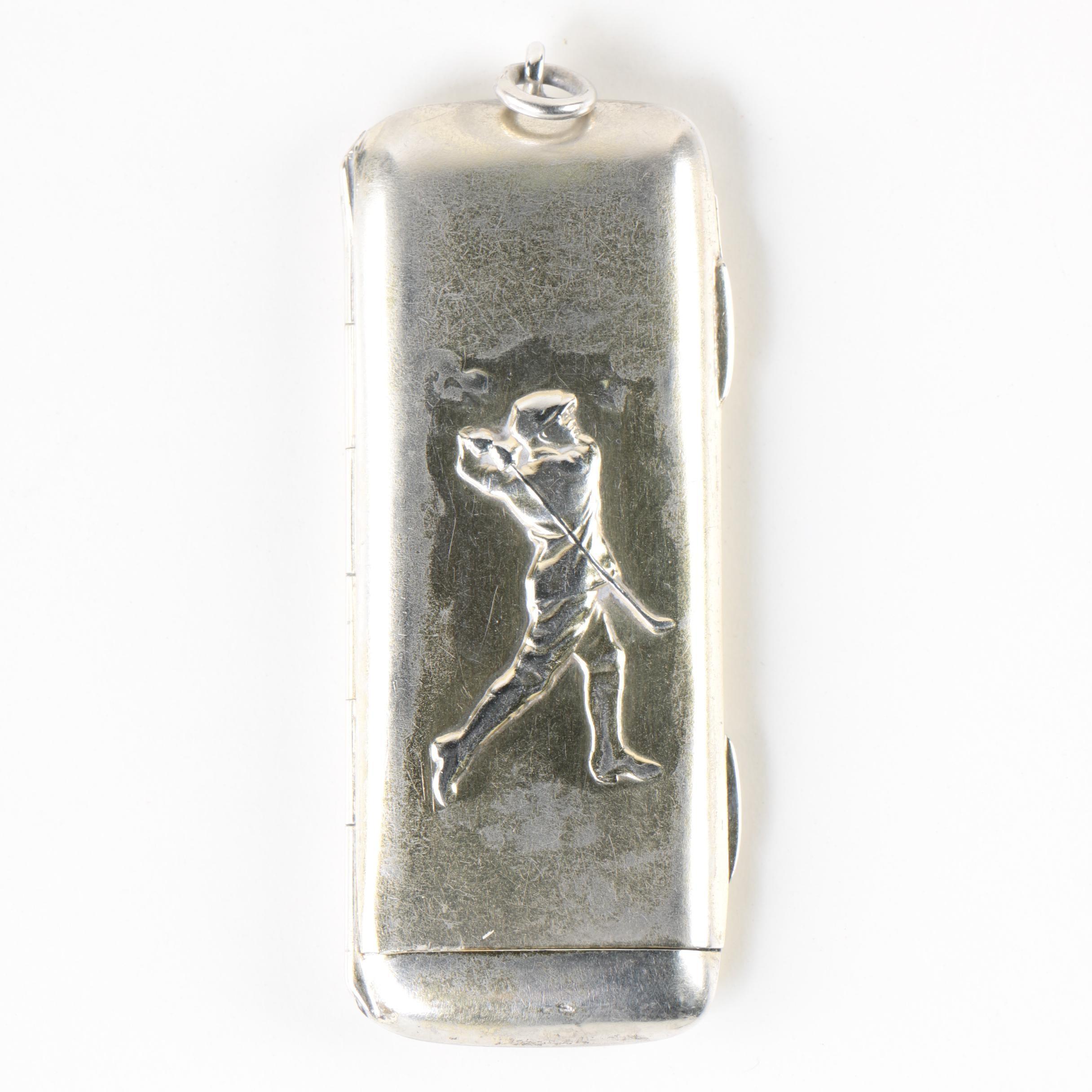 Sampson Mordan & Co. Sterling Silver Slide Sovereign Case, 1907