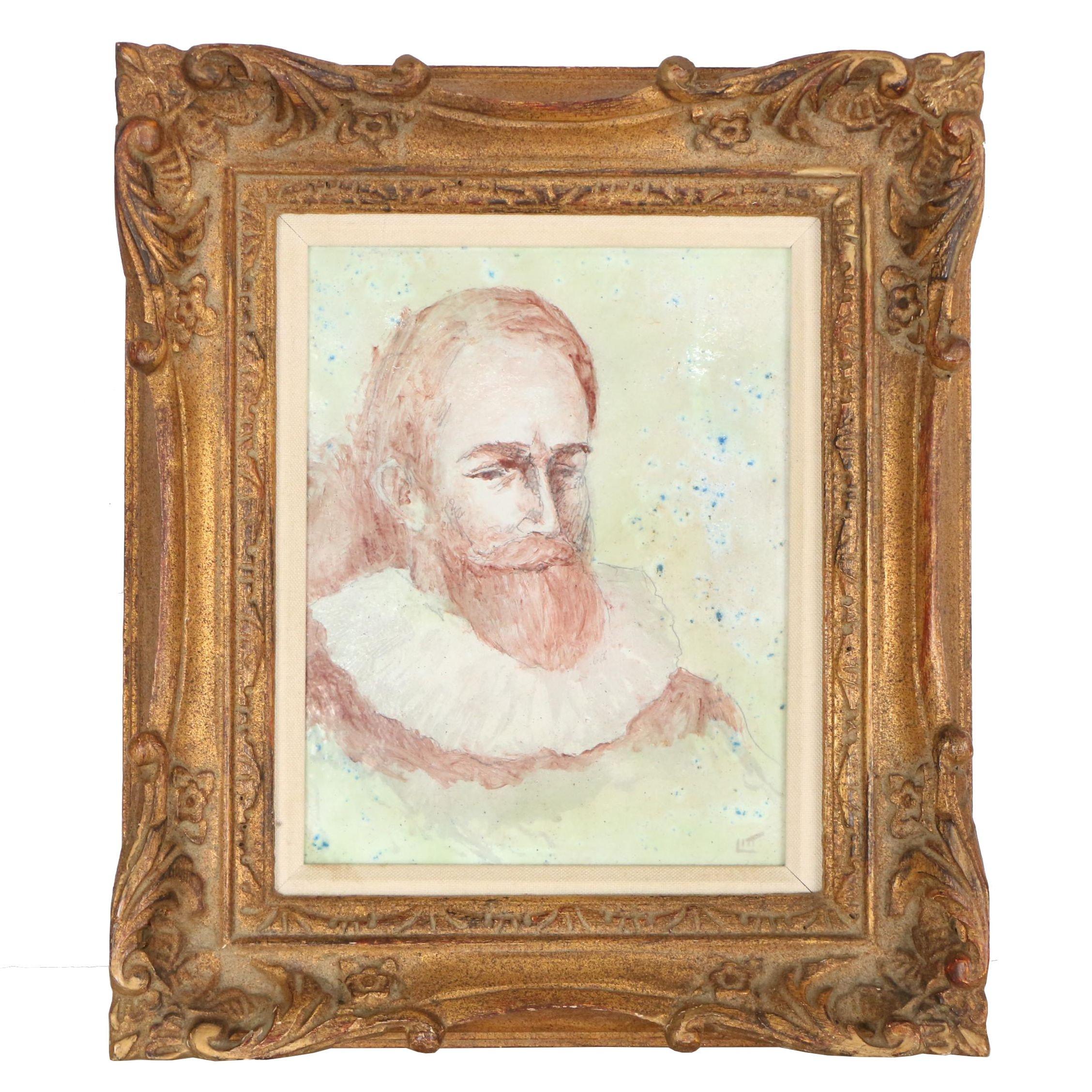 Walt Litt Enamel Portrait Painting