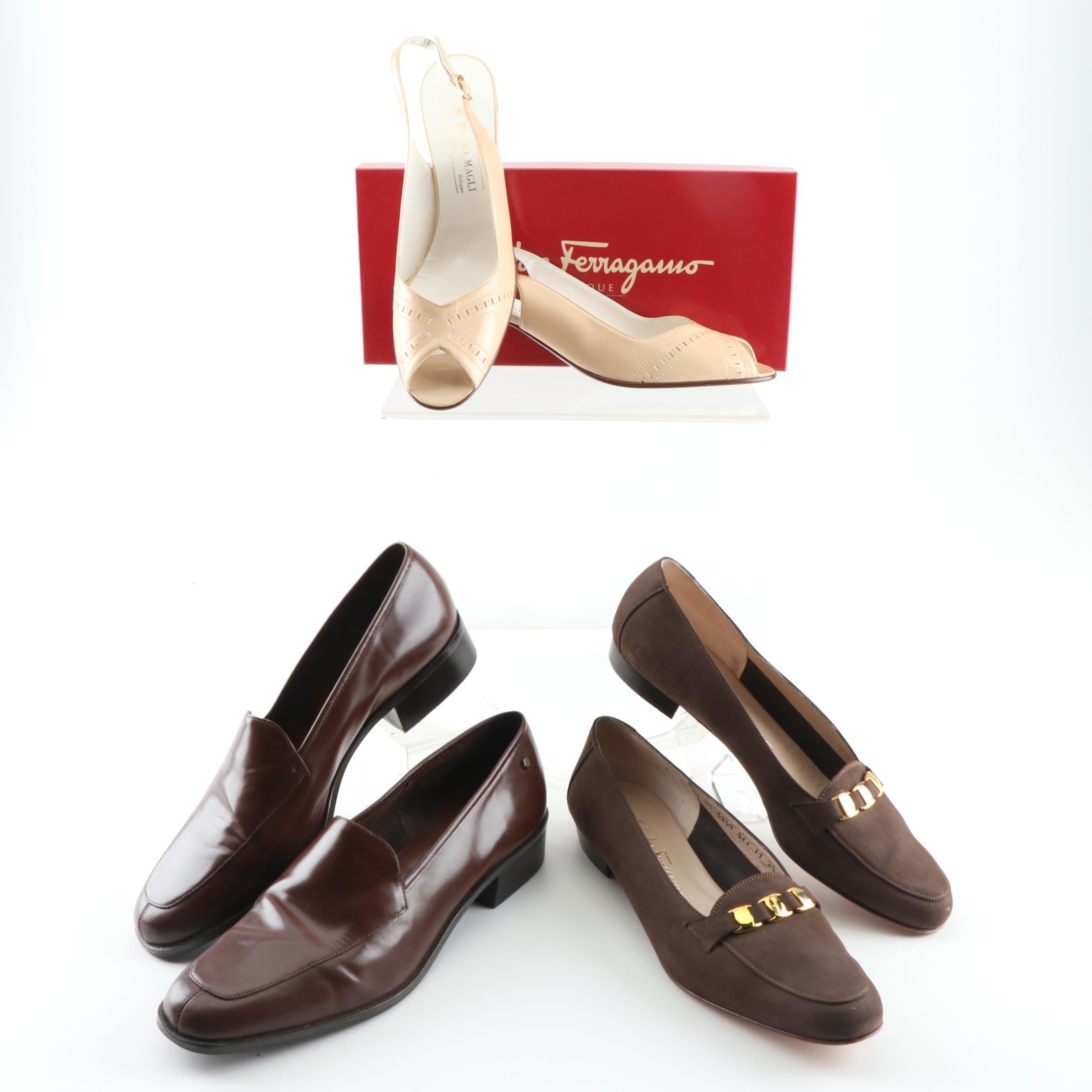 Women's Leather Slingback Pumps and Loafers including Bruno Magli
