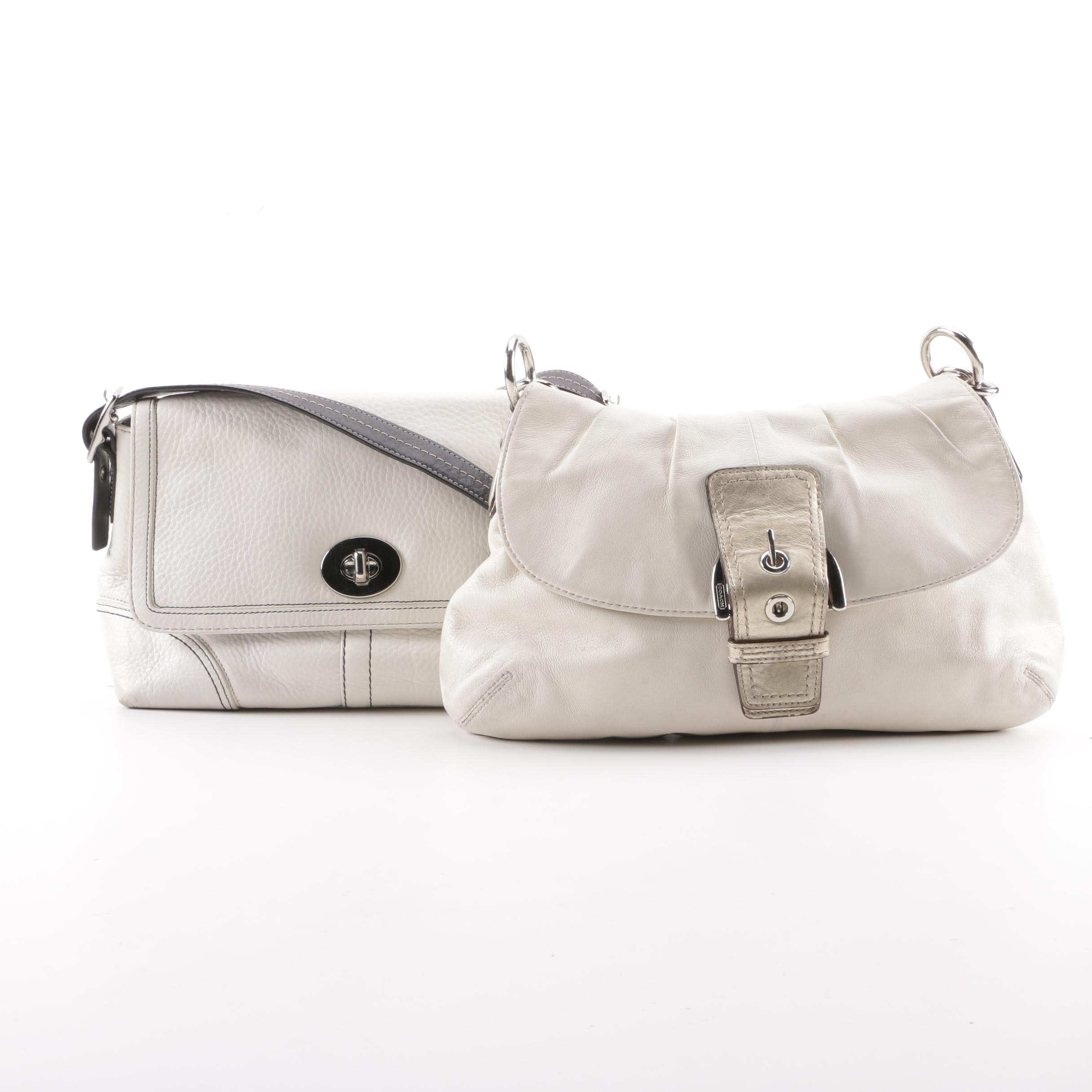 Coach Soho Pleated Leather Hobo Bag and Hampton Flap Leather Crossbody Bag