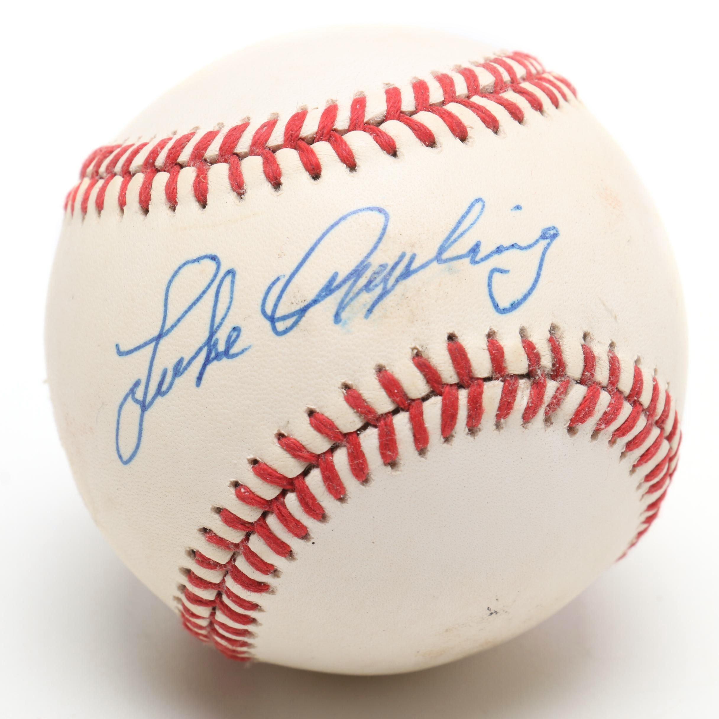 (HOF) Luke Appling Signed Rawlings AL Baseball