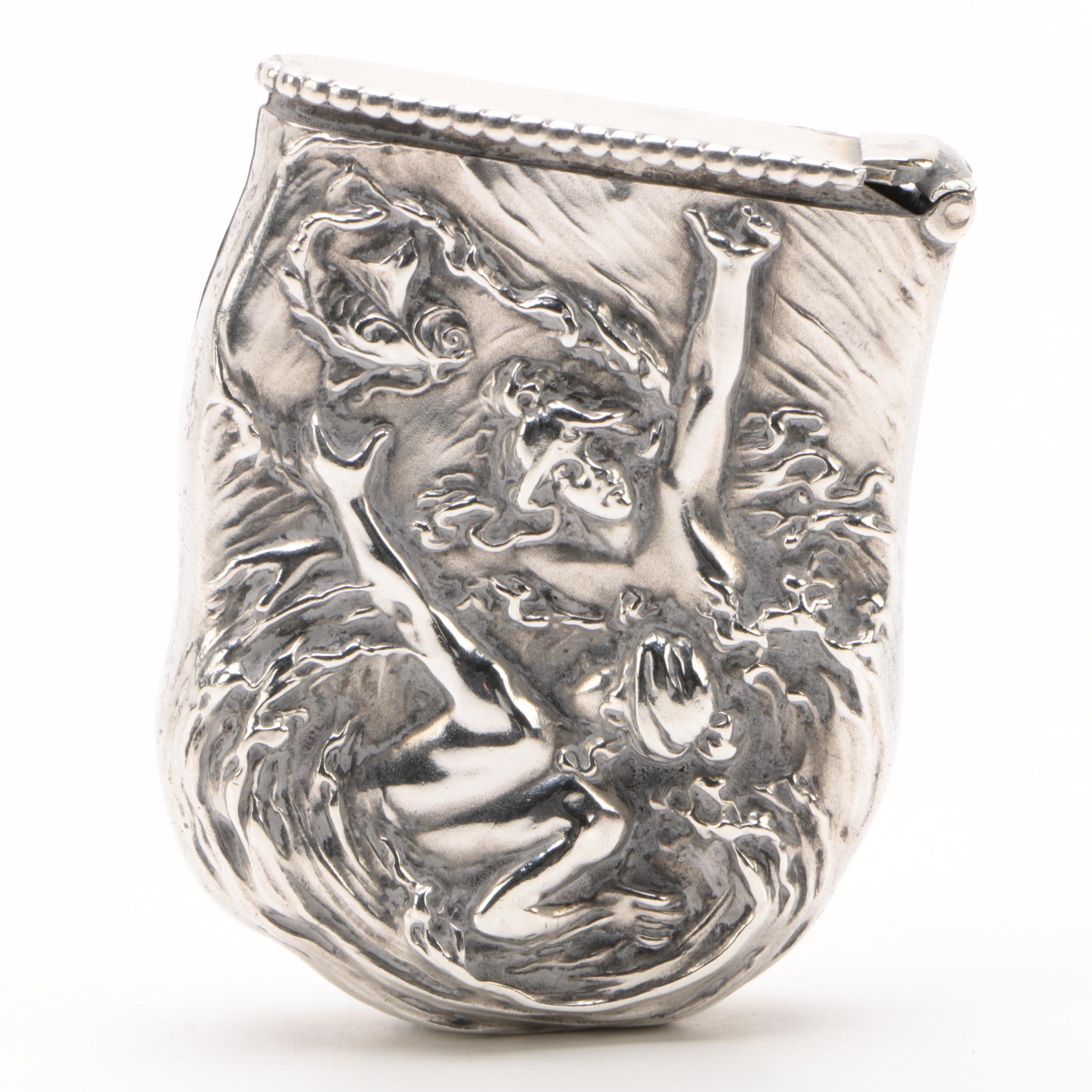 Wm. B. Kerr & Co. Sterling Silver Match Case from American Beauty Series