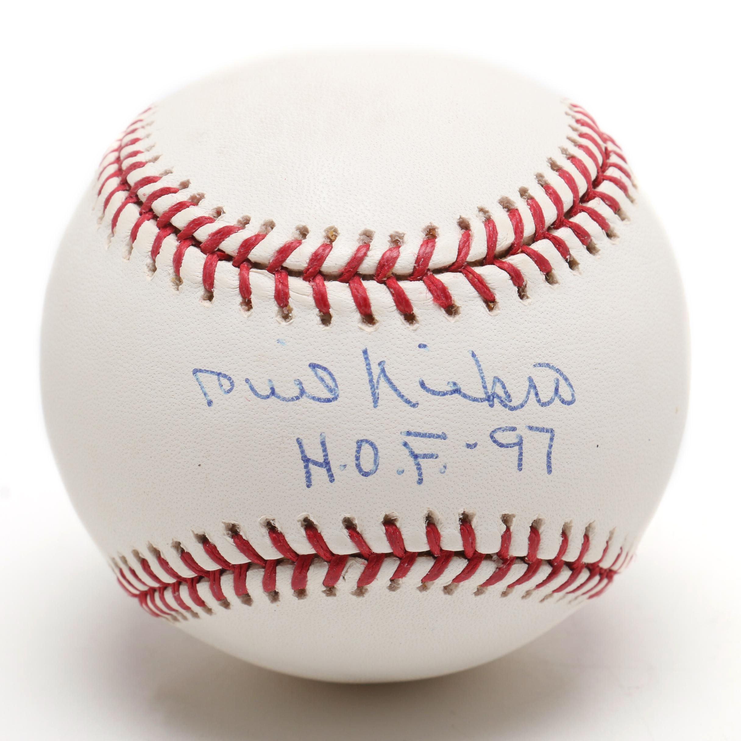 (HOF) Phil Niekro Signed Rawlings Major League Baseball