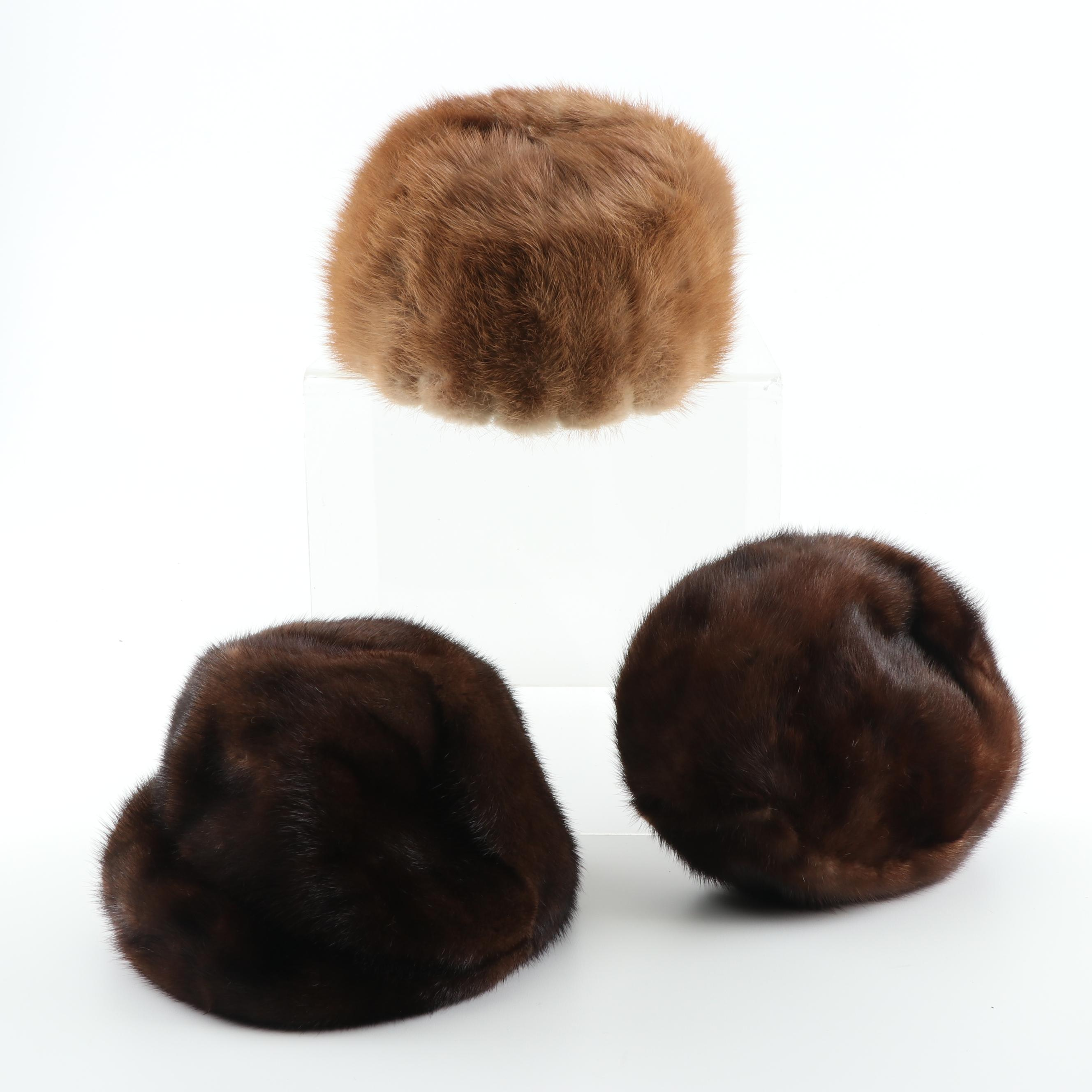 Women's Vintage Mink Fur Hats including Dana Marté
