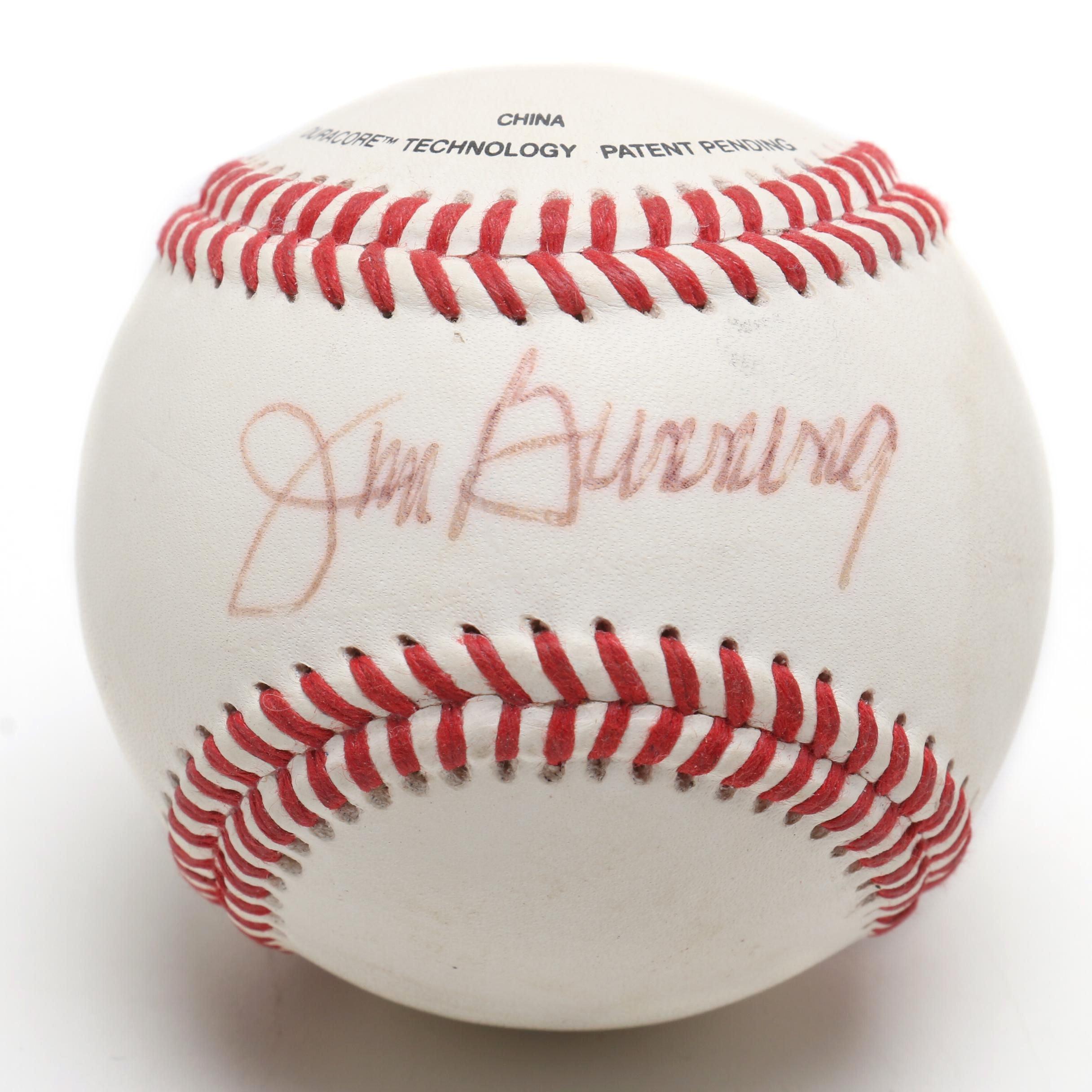 (HOF) Jim Bunning Signed Wilson Baseball