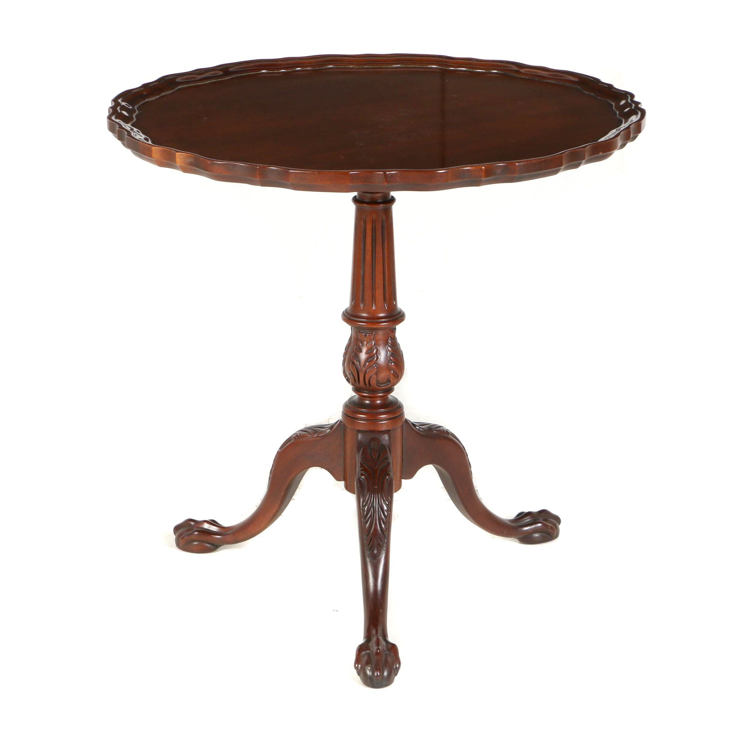 George III Style Mahogany Tilt-Top Tea Table by Hickory Chair, 20th Century