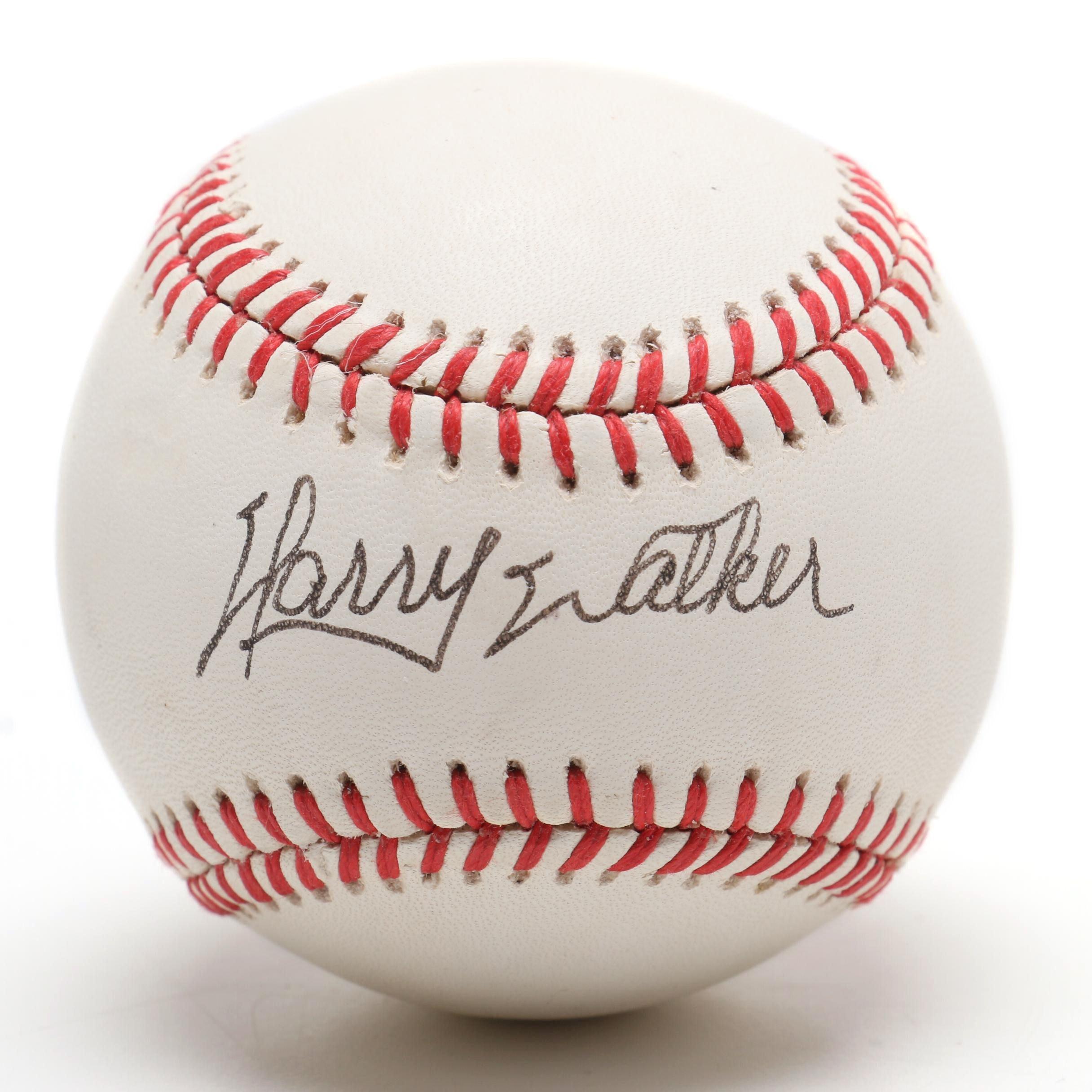 Harry Walker Signed Rawlings National League Baseball