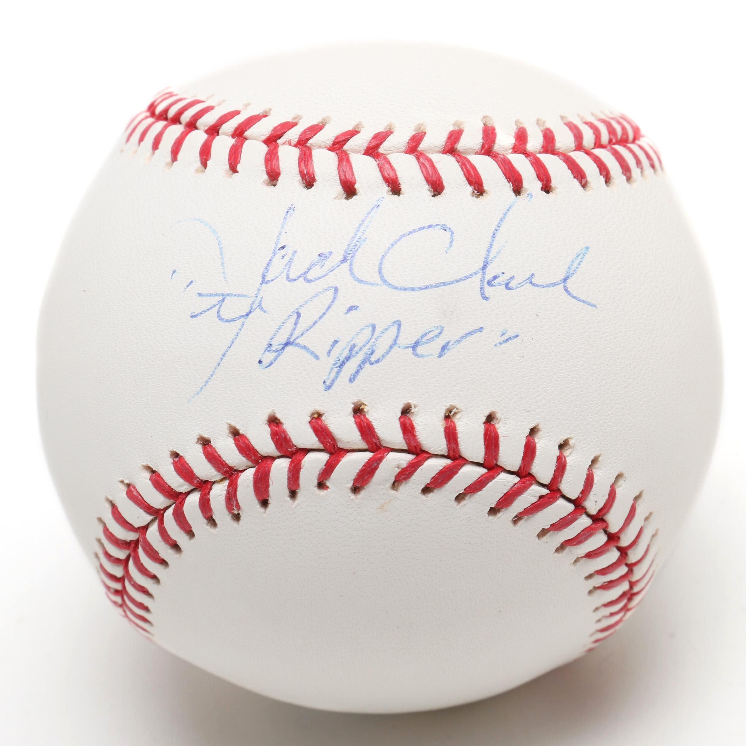 """Jack Clark """"The Ripper"""" Signed Rawlings Major League Baseball"""