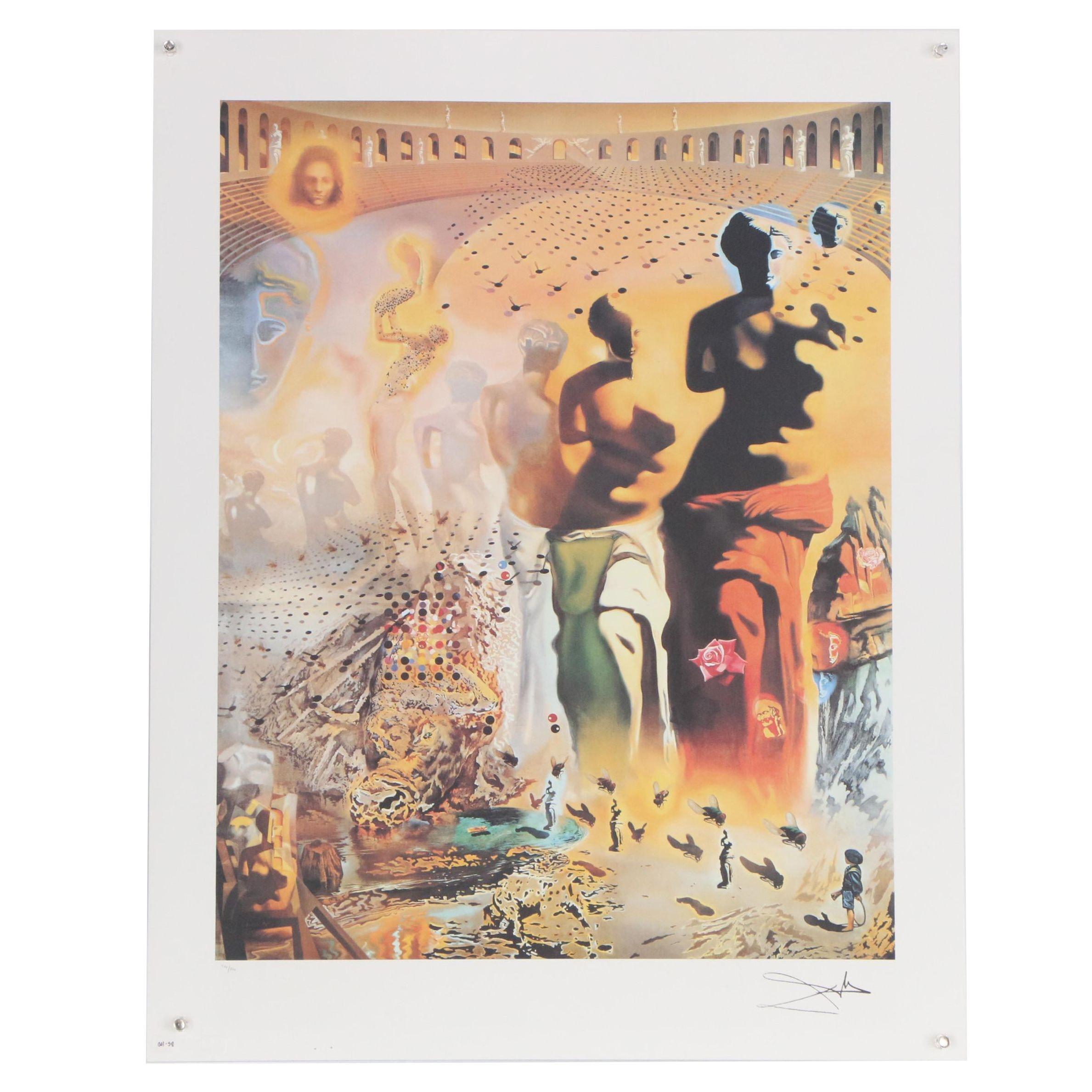 """Offset Lithograph after After Salvador Dali """"The Hallucinogenic Torreador"""""""