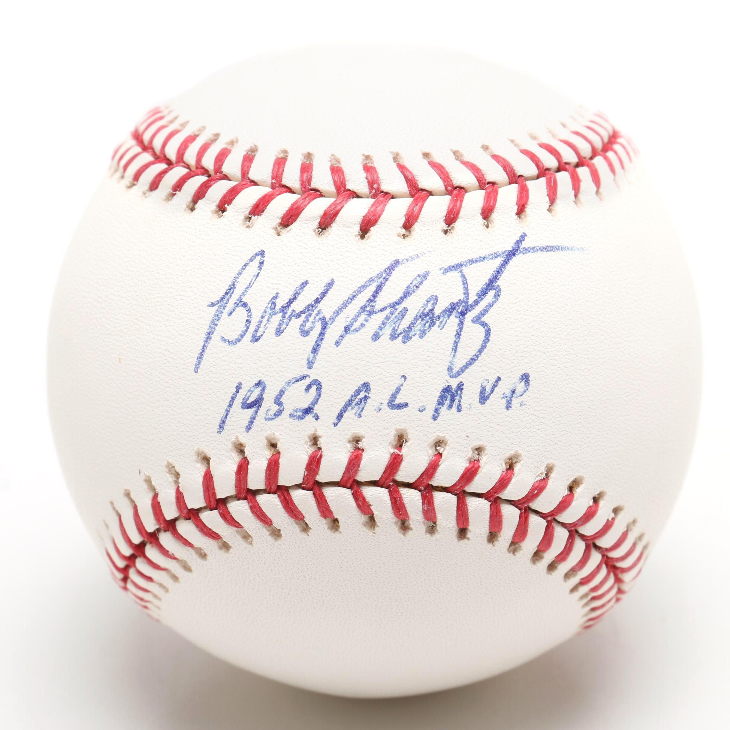 "Bobby Shantz Signed ""1952 A.L MVP"" Rawlings Major League Baseball"