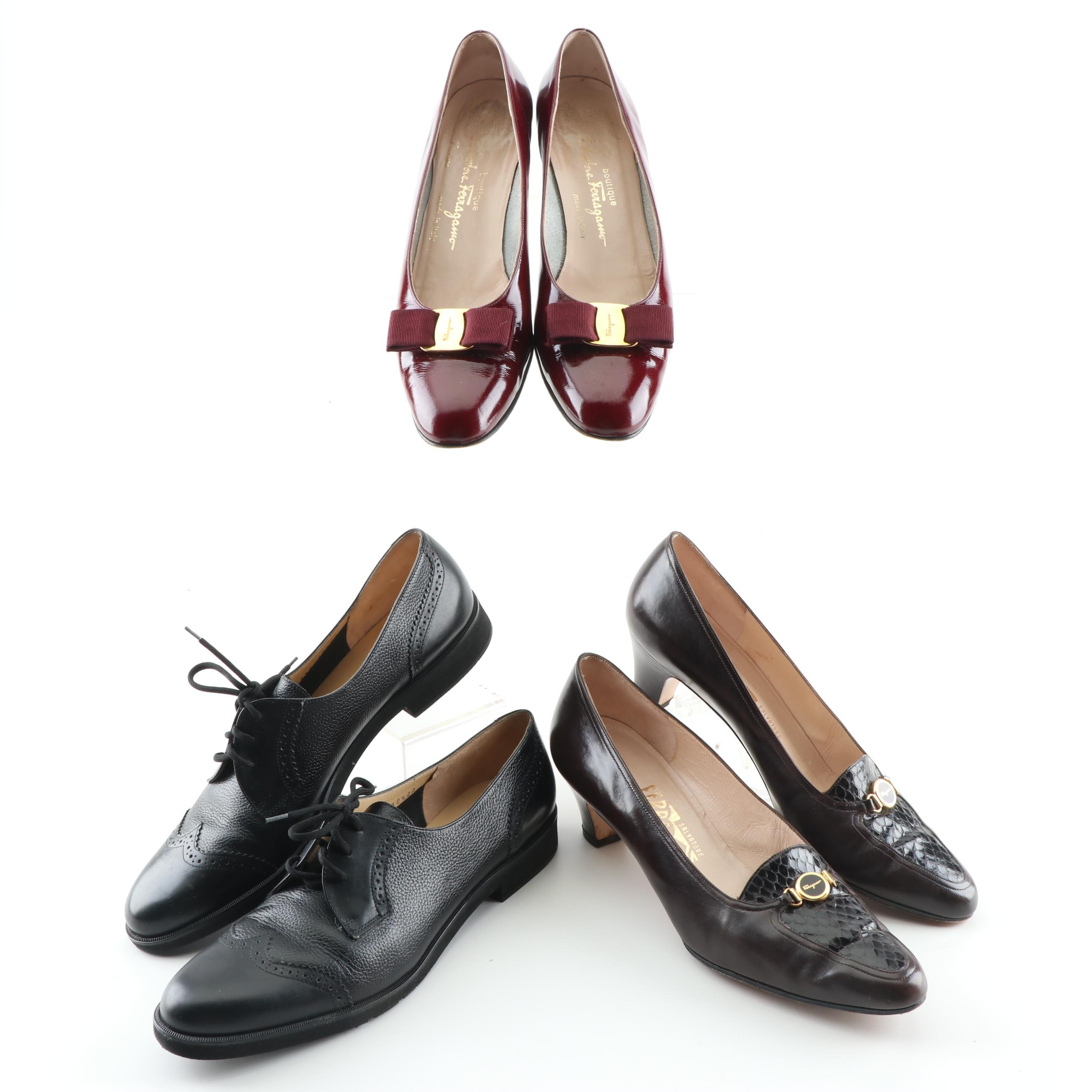 Women's Salvatore Ferragamo Leather Pumps and Wingtip Oxfords