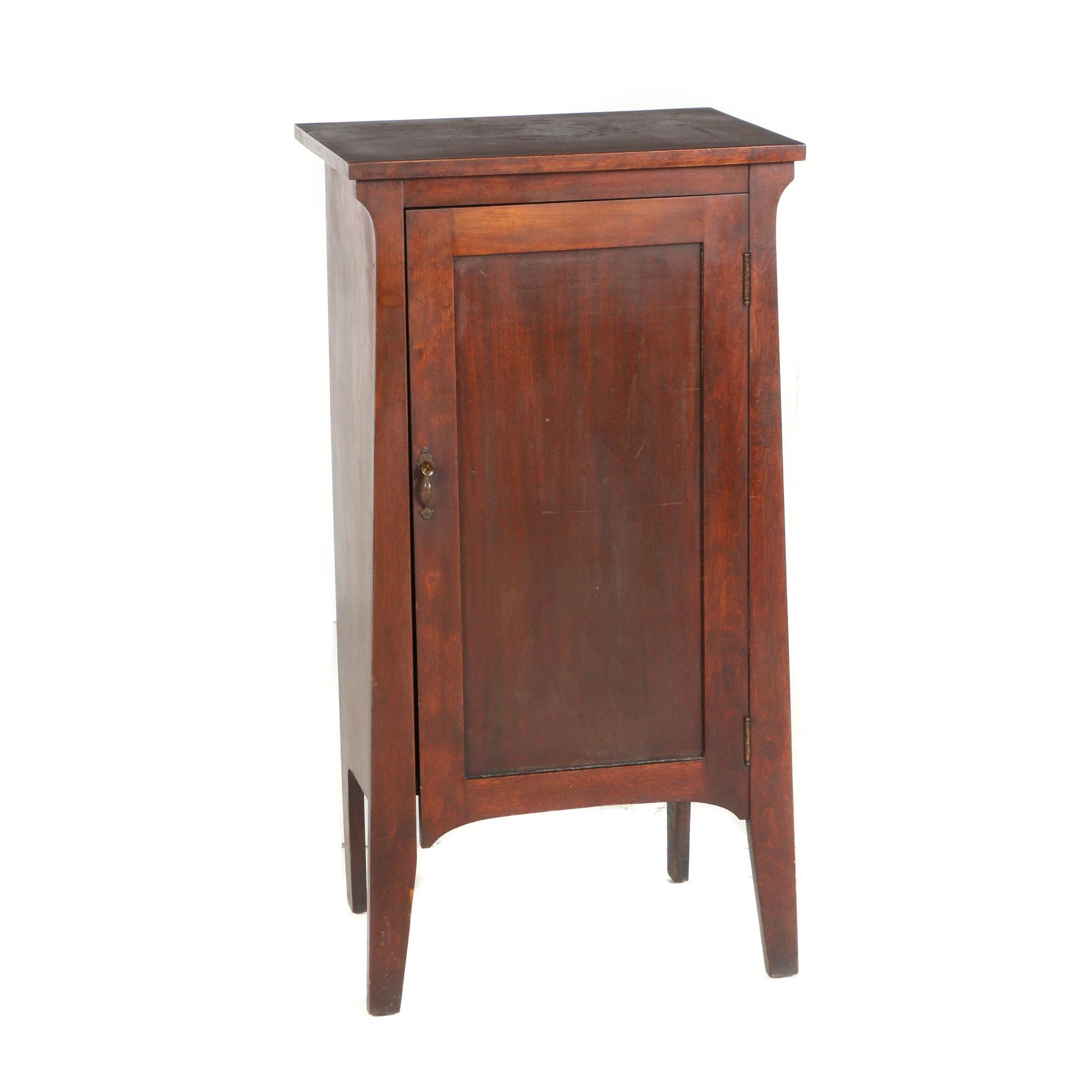 Arts and Crafts Mahogany-Stained Record Cabinet, Early 20th Century