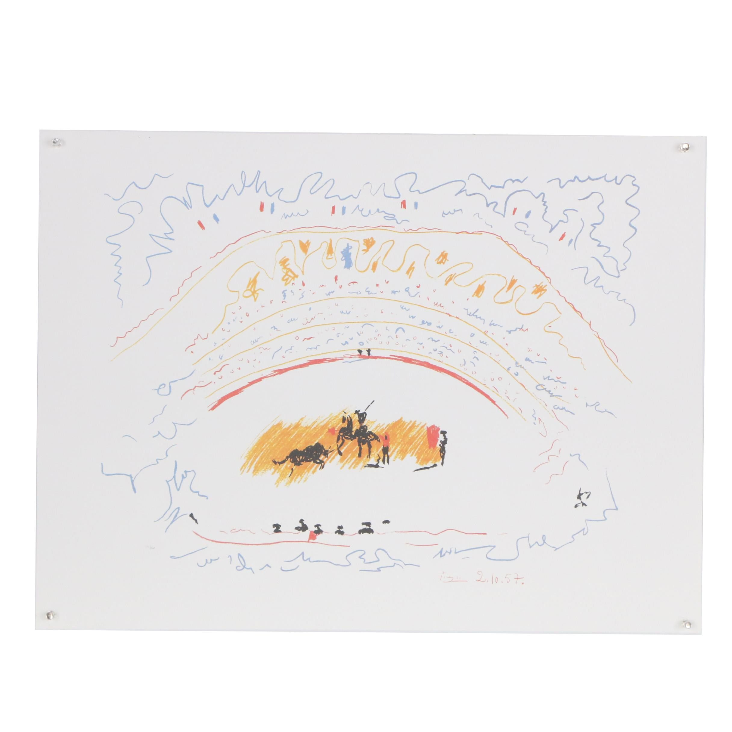 """Offset Lithograph after Pablo Picasso """"Corrida"""""""