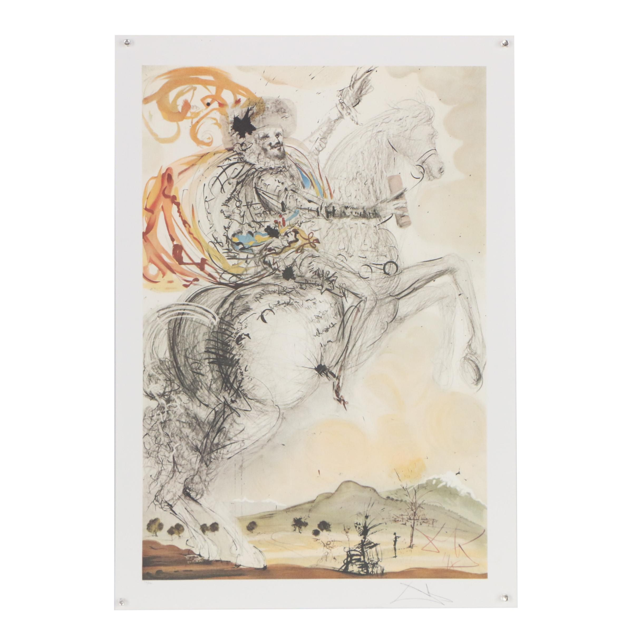 """Offset Lithograph after Salvador Dali """"El Cid"""""""