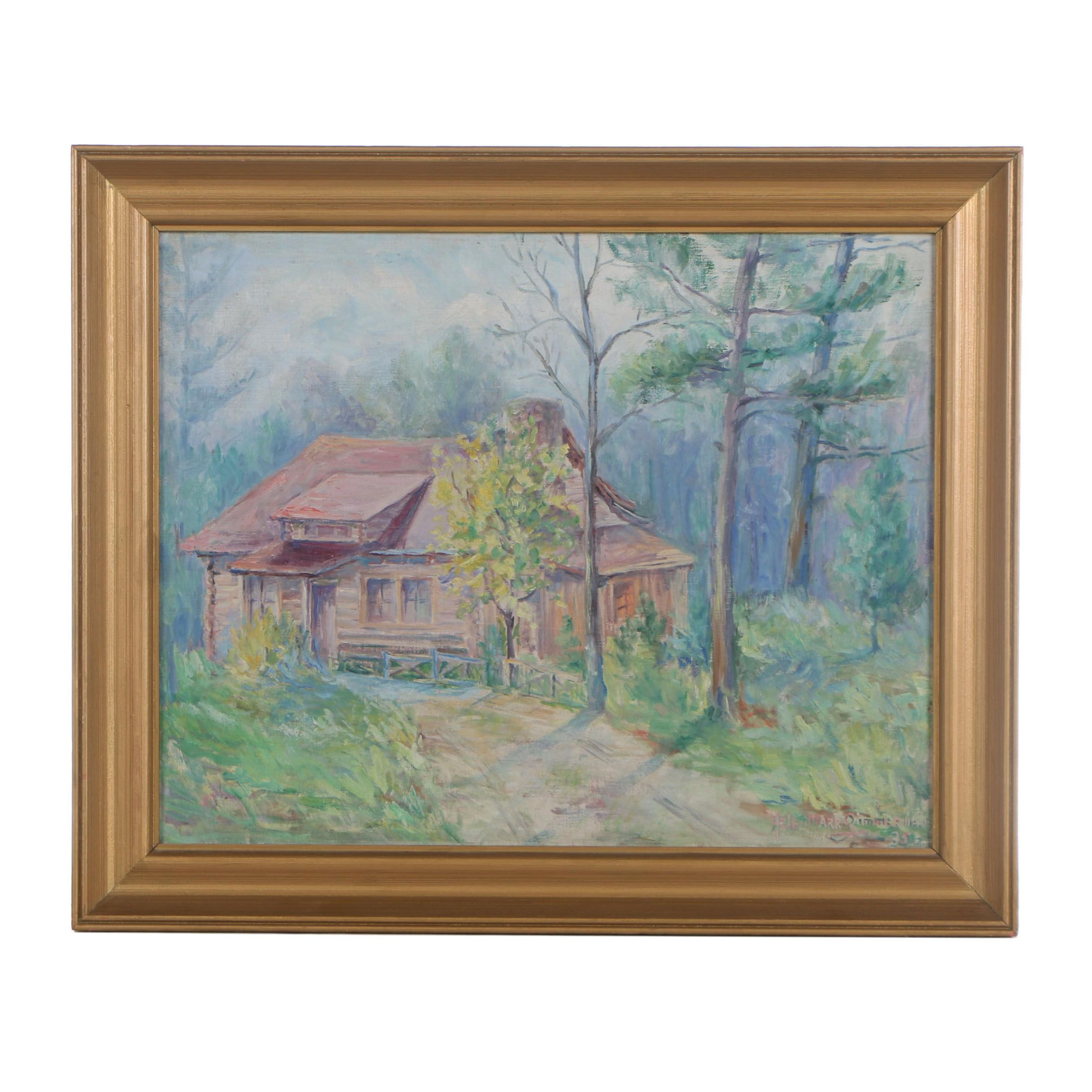 Helen Marr Zimmerman 1935 Oil Painting