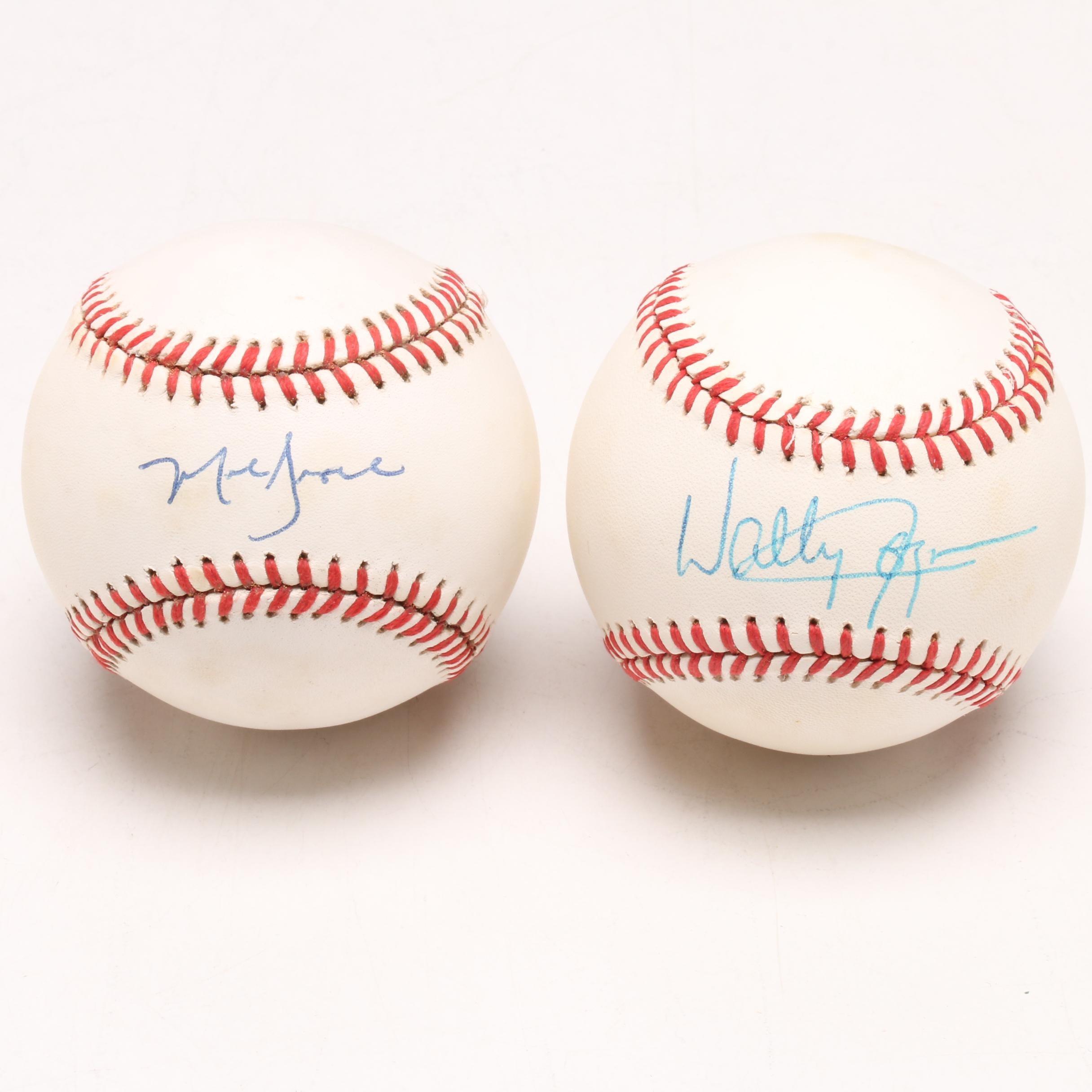 Wally Joyner and Mark Grace Signed Rawlings Baseballs