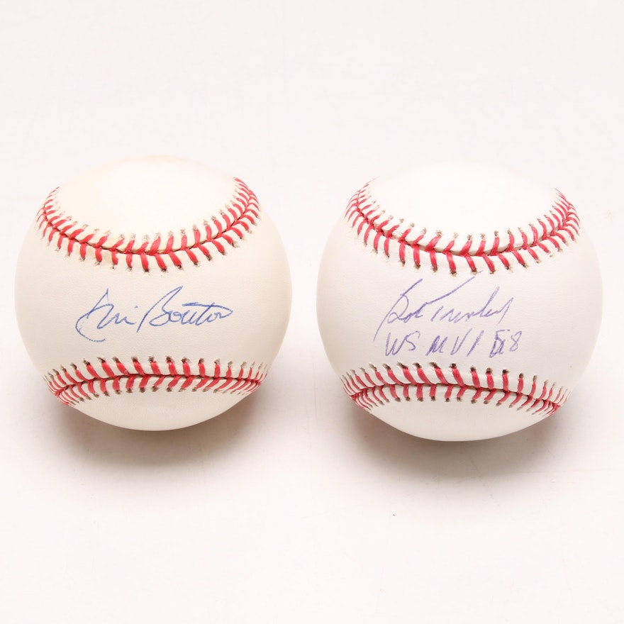 a0e75a6f80a Bob Turley and Jim Bouton New York Yankees Pitchers Signed Baseballs   EBTH