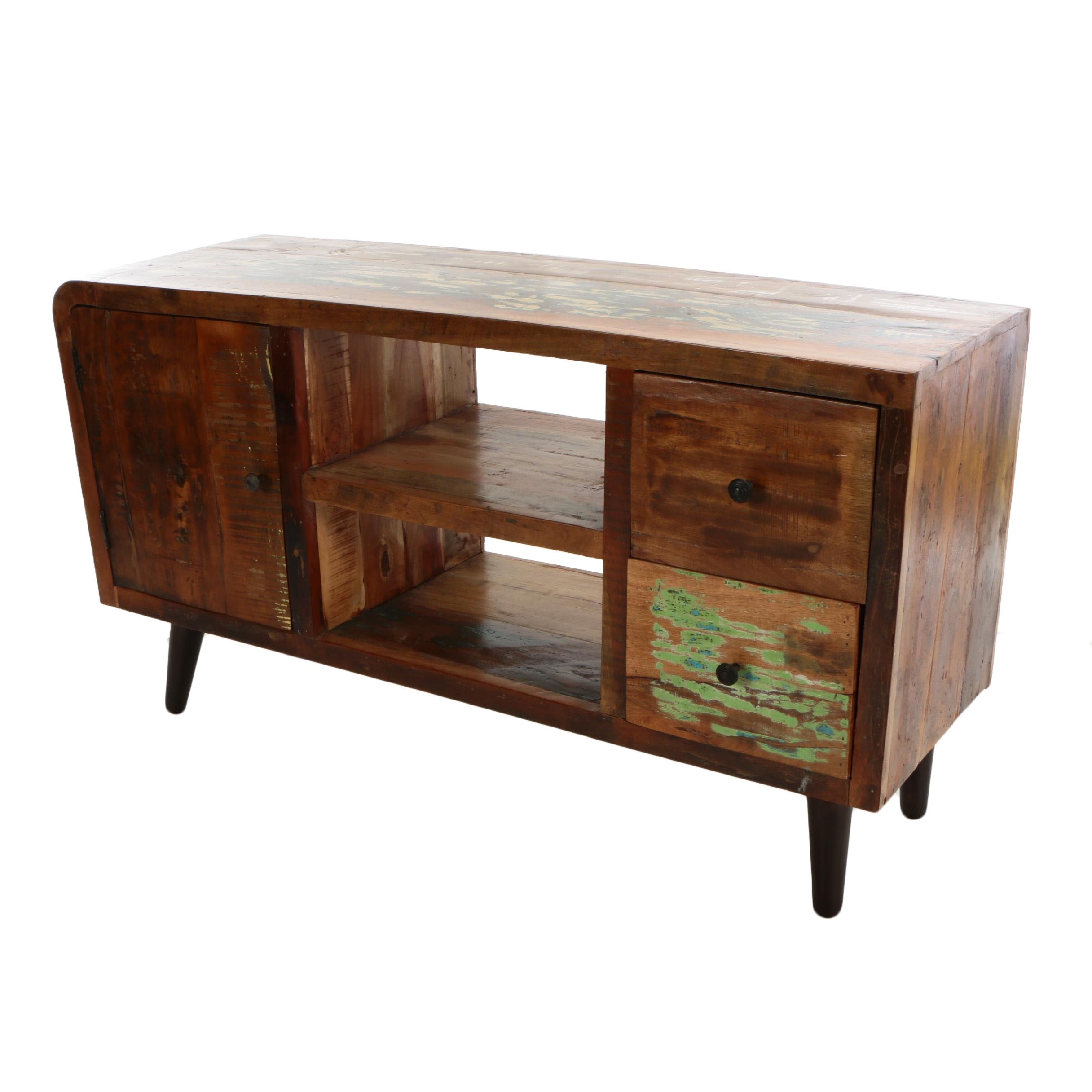 Mid-Century Media Console Table, Mid-20th Century