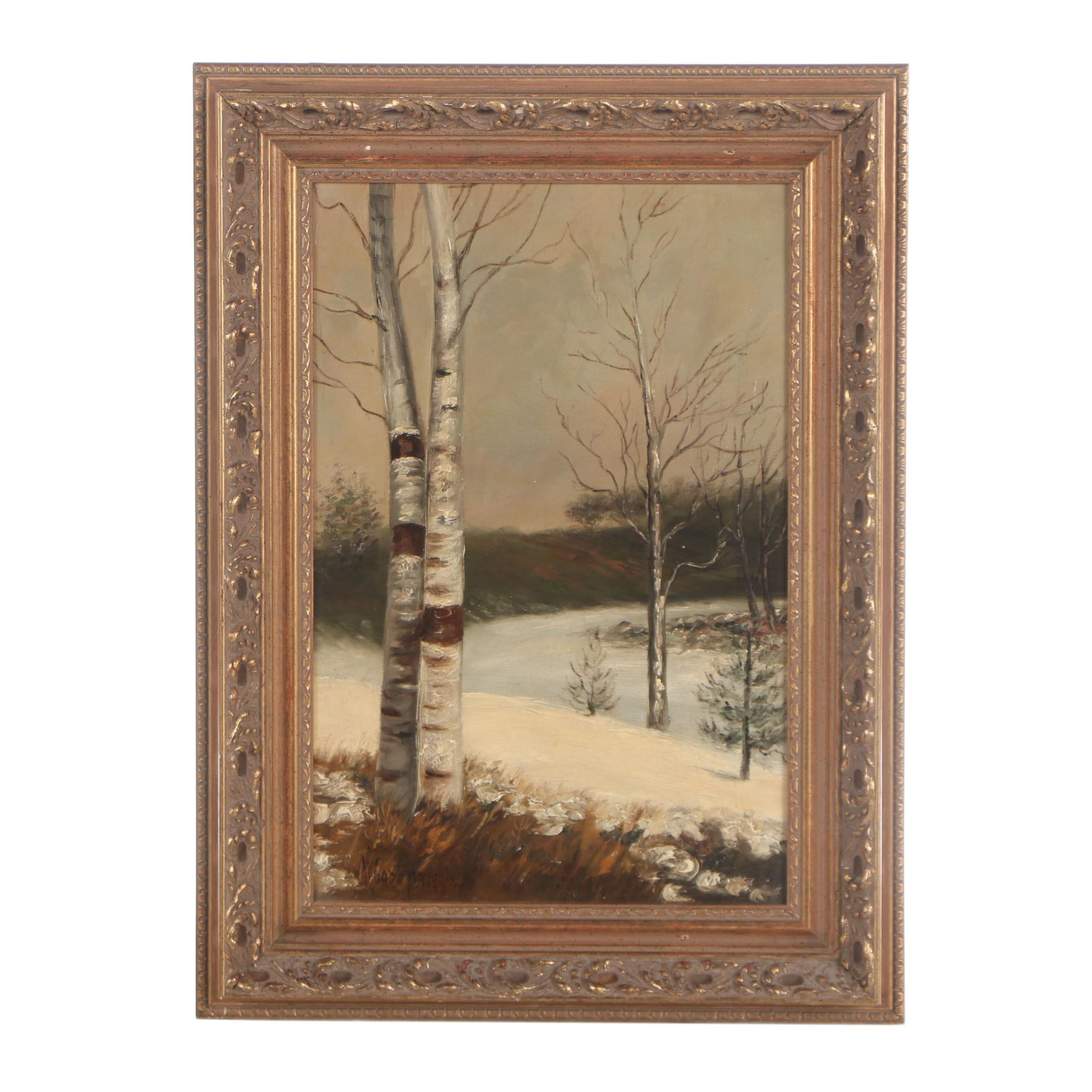 McComb Wright 1918 Oil Painting