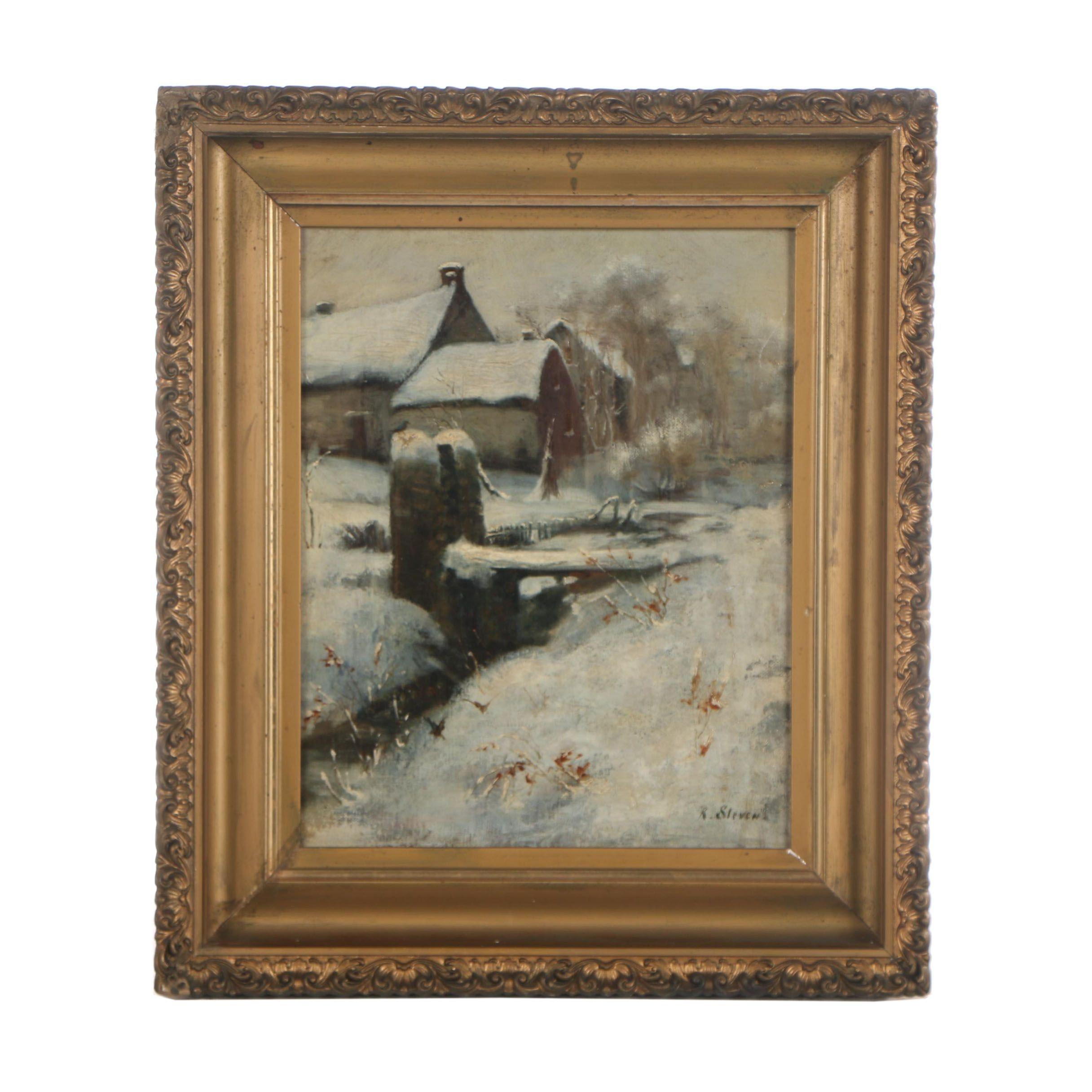 R. Stevens Oil Painting