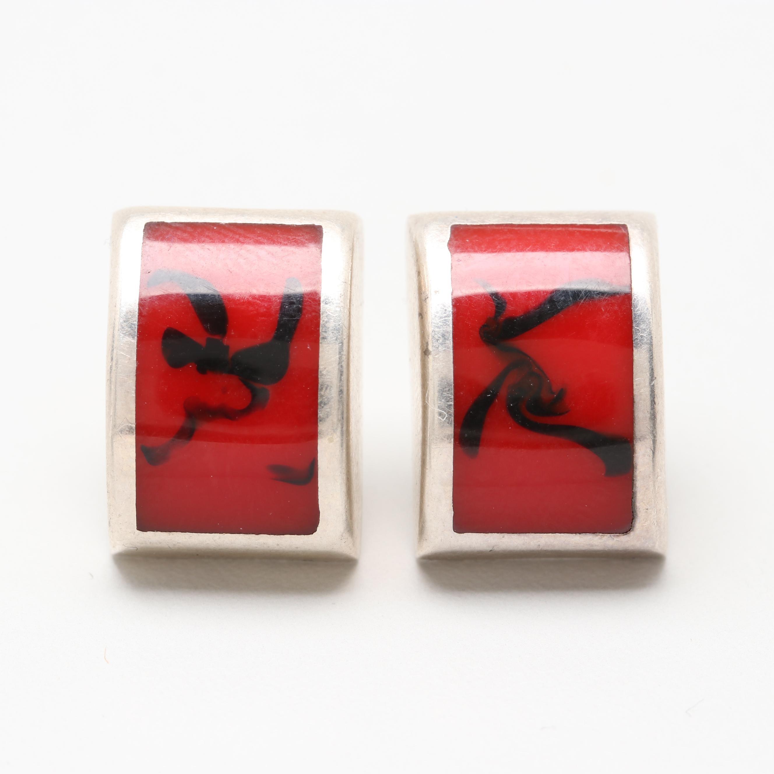 Silpada Sterling Silver Red Jasper Earrings