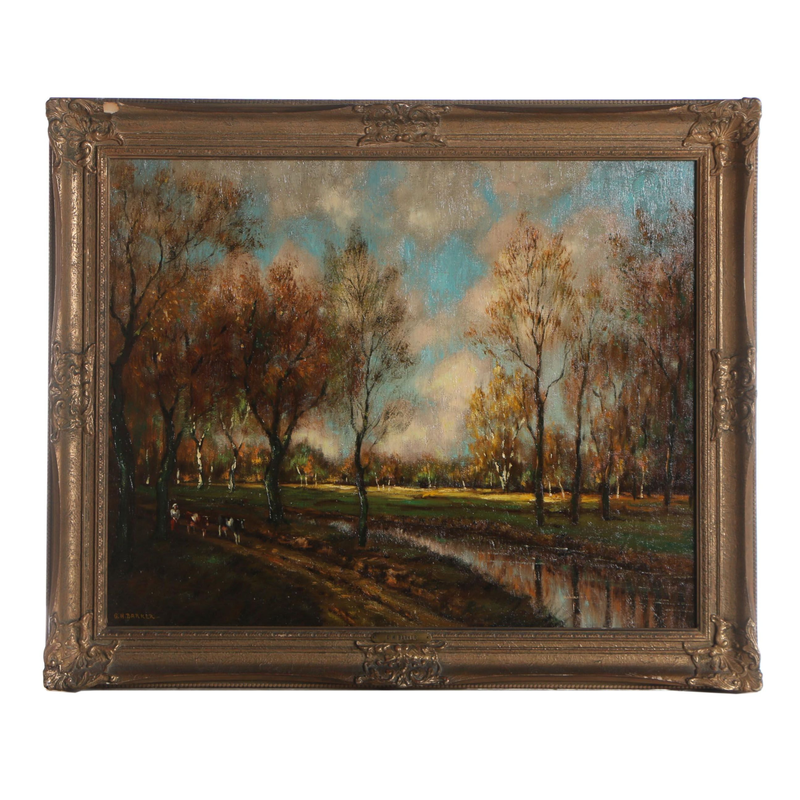George Herbert Baker Oil Painting