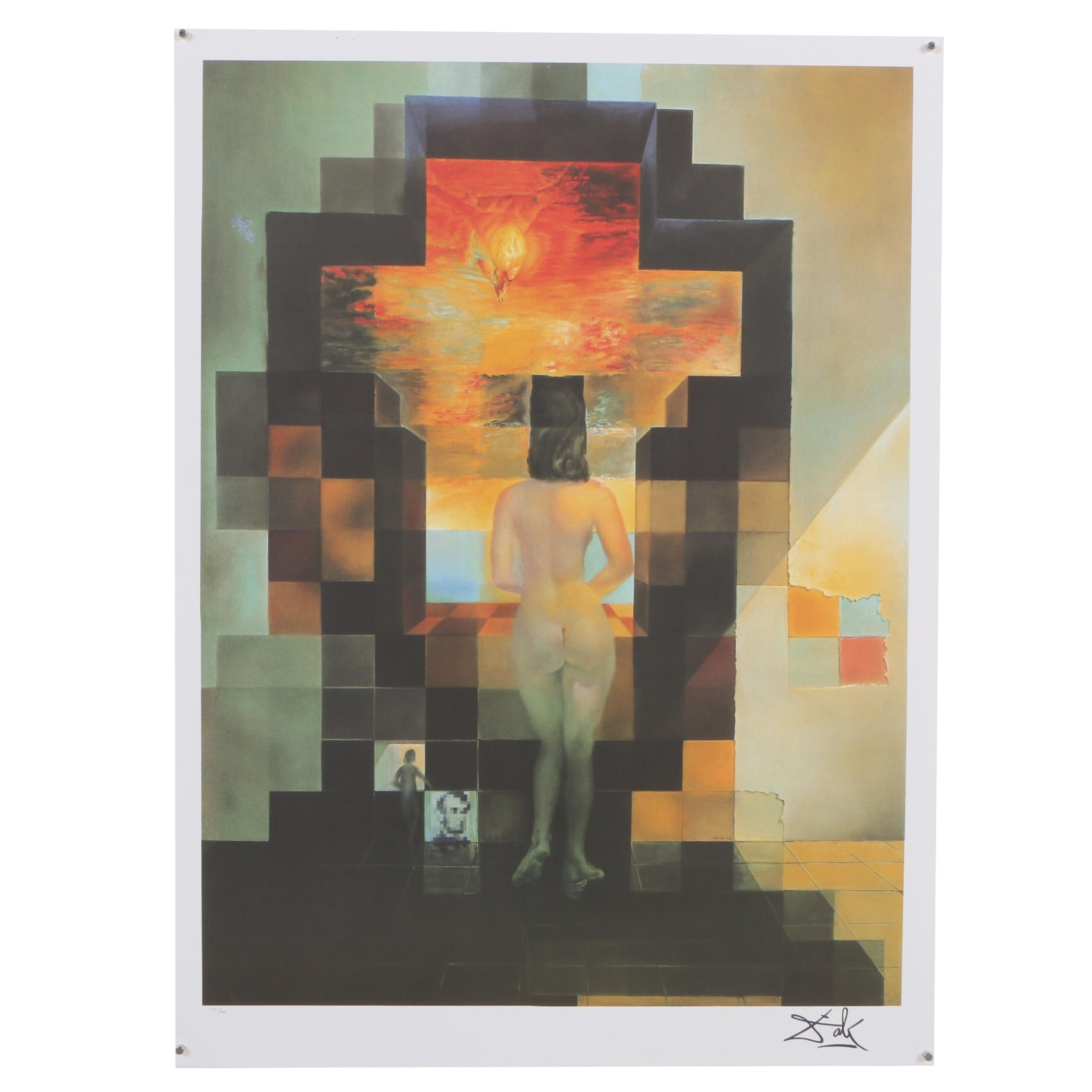 """Offset Lithograph after Salvador Dali """"Lincoln in Dalivision"""""""