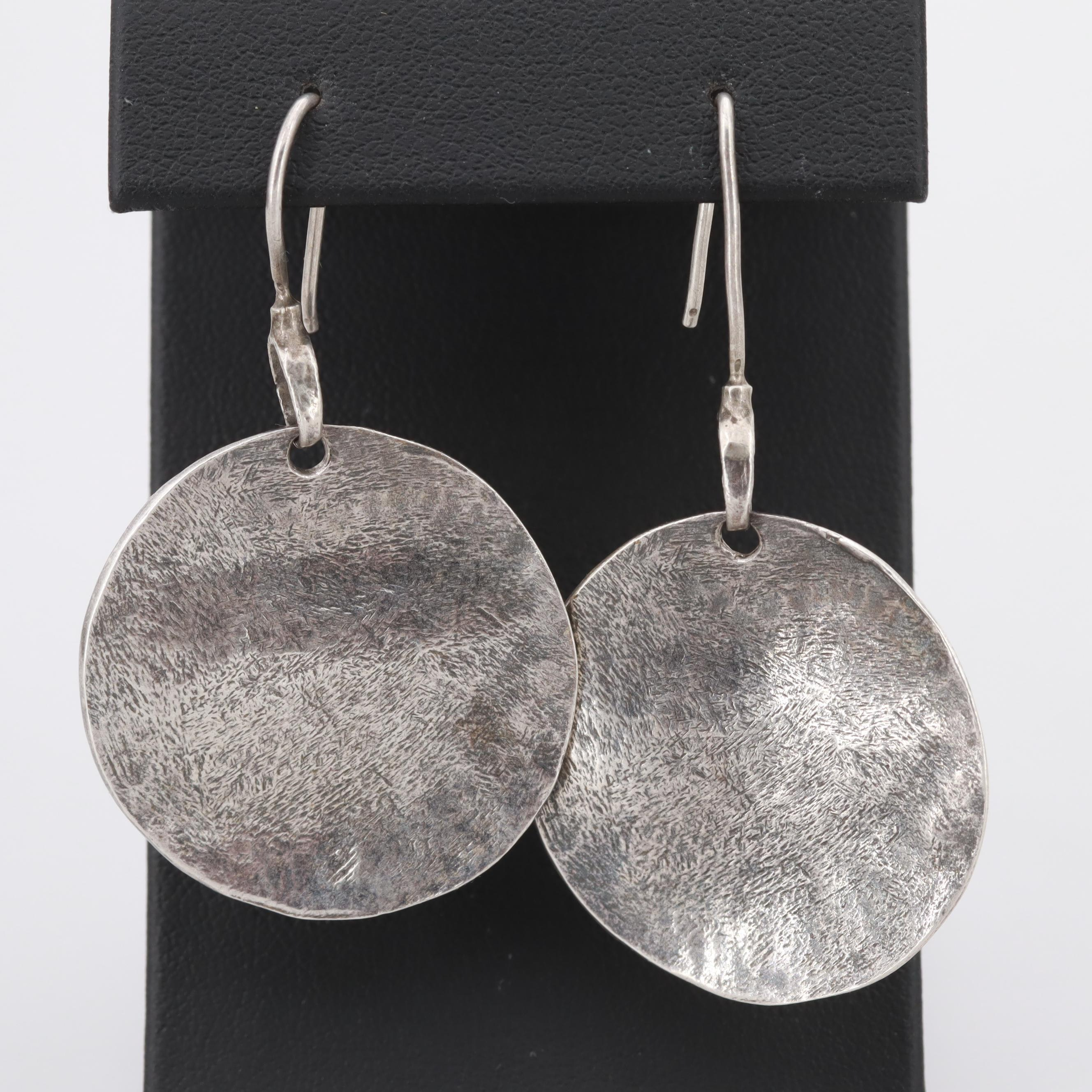 Silpada Sterling Silver Hammered Disc Earrings
