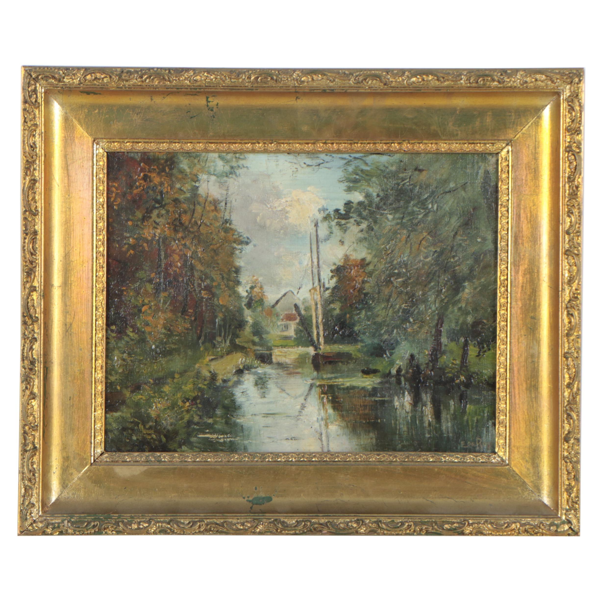 E. DeRop Oil Painting