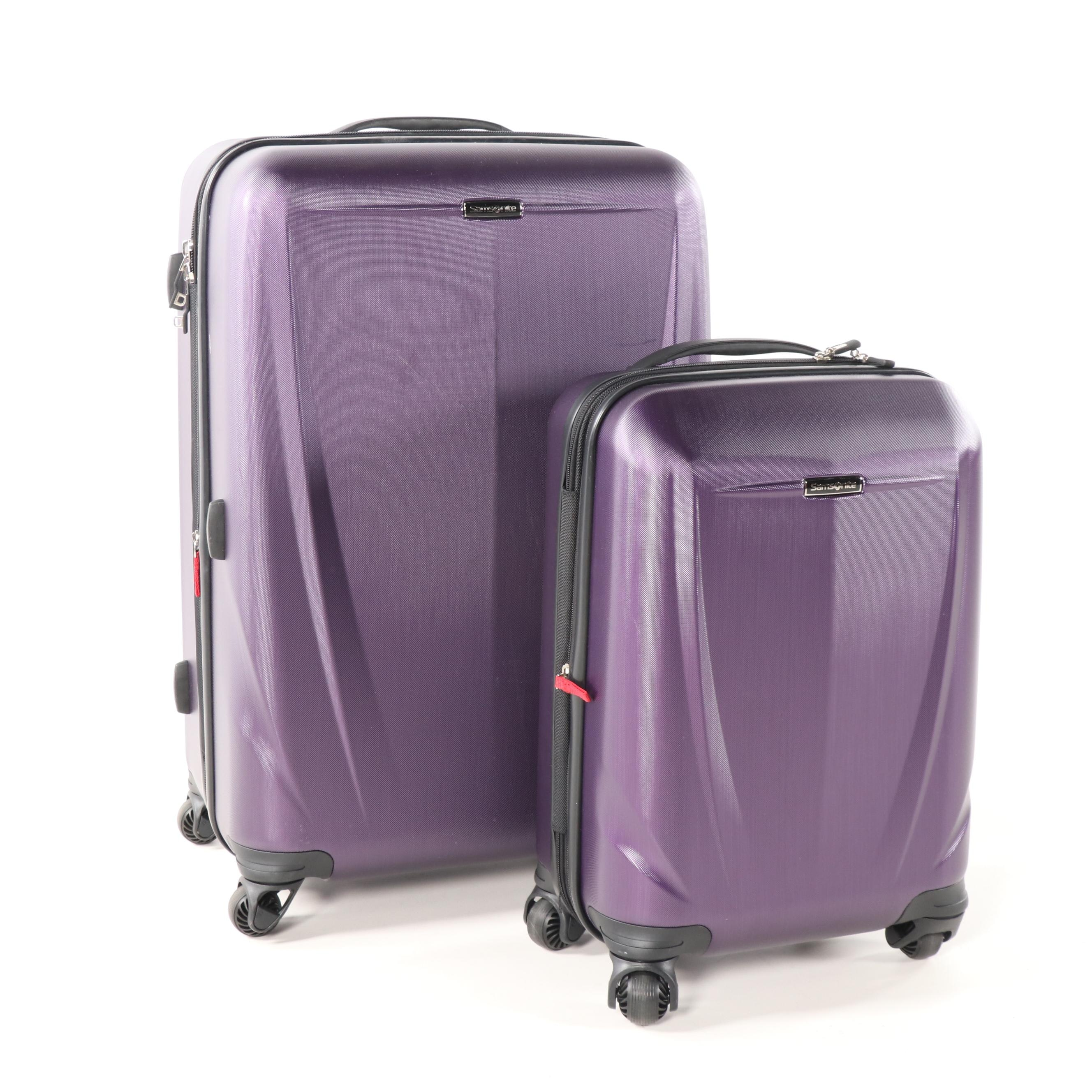 Samsonite Sphere DLX Purple Two-Piece Hardside Spinner Luggage Set