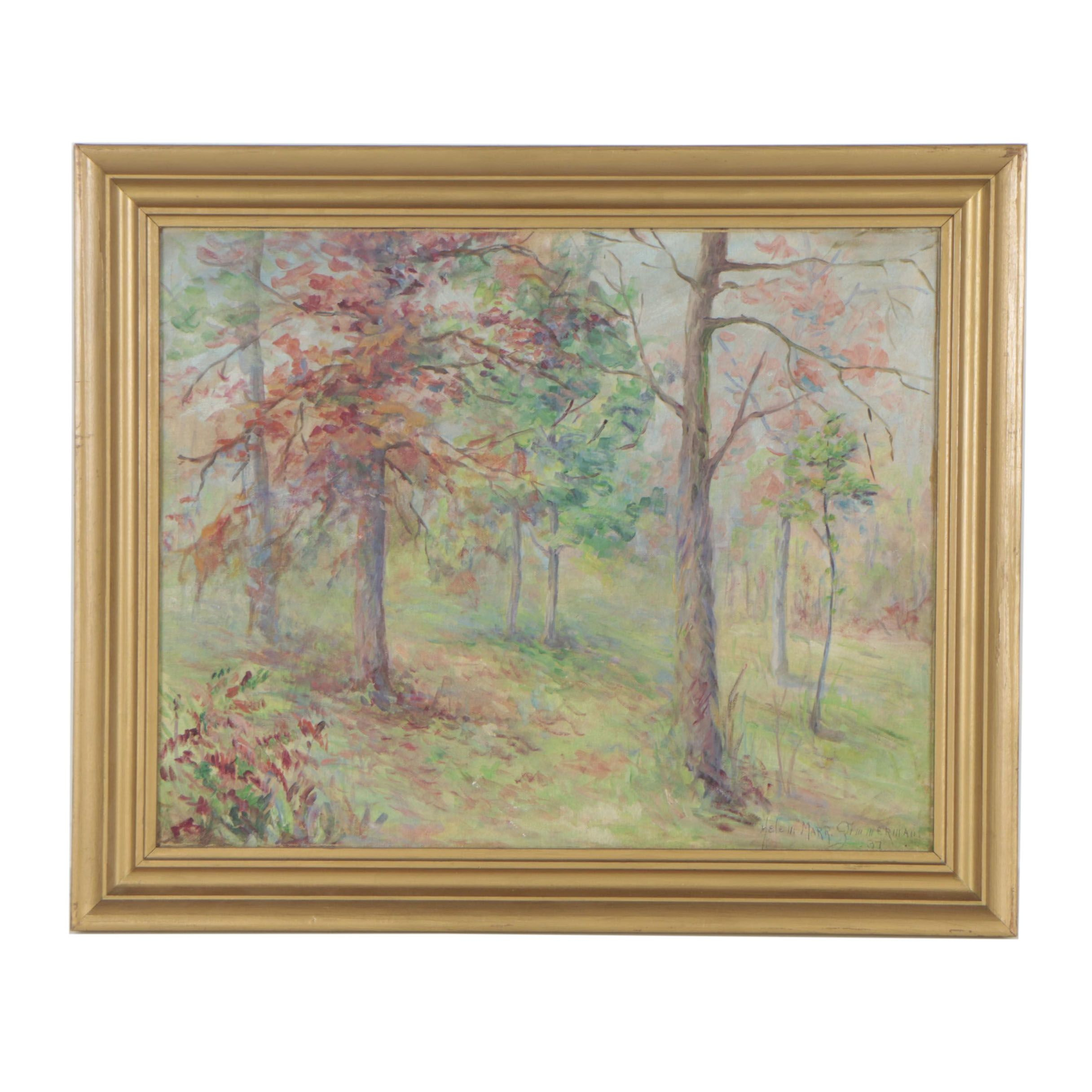Helen Marr Zimmerman 1937 Oil Painting