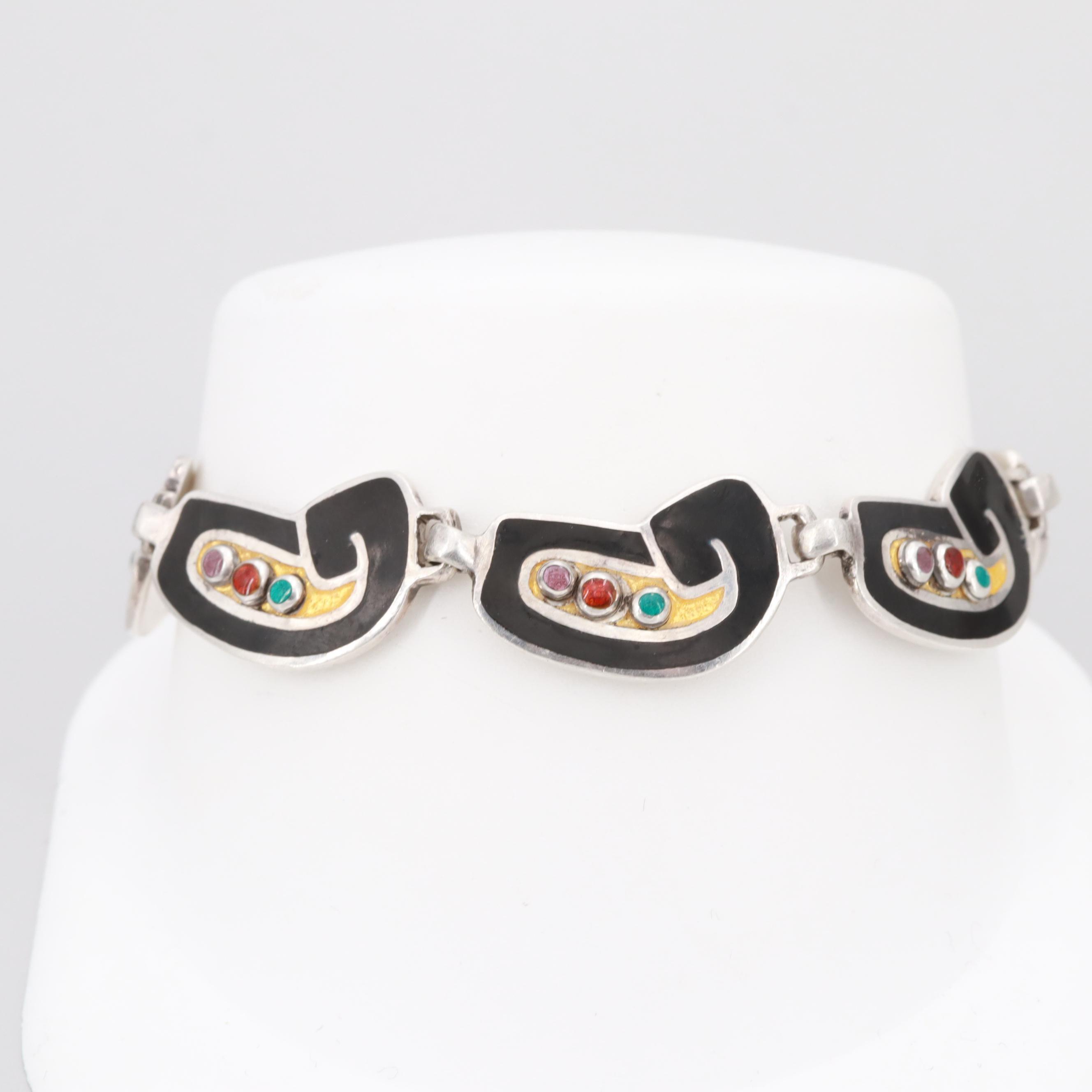 Margot De Taxco Sterling Silver Bracelet