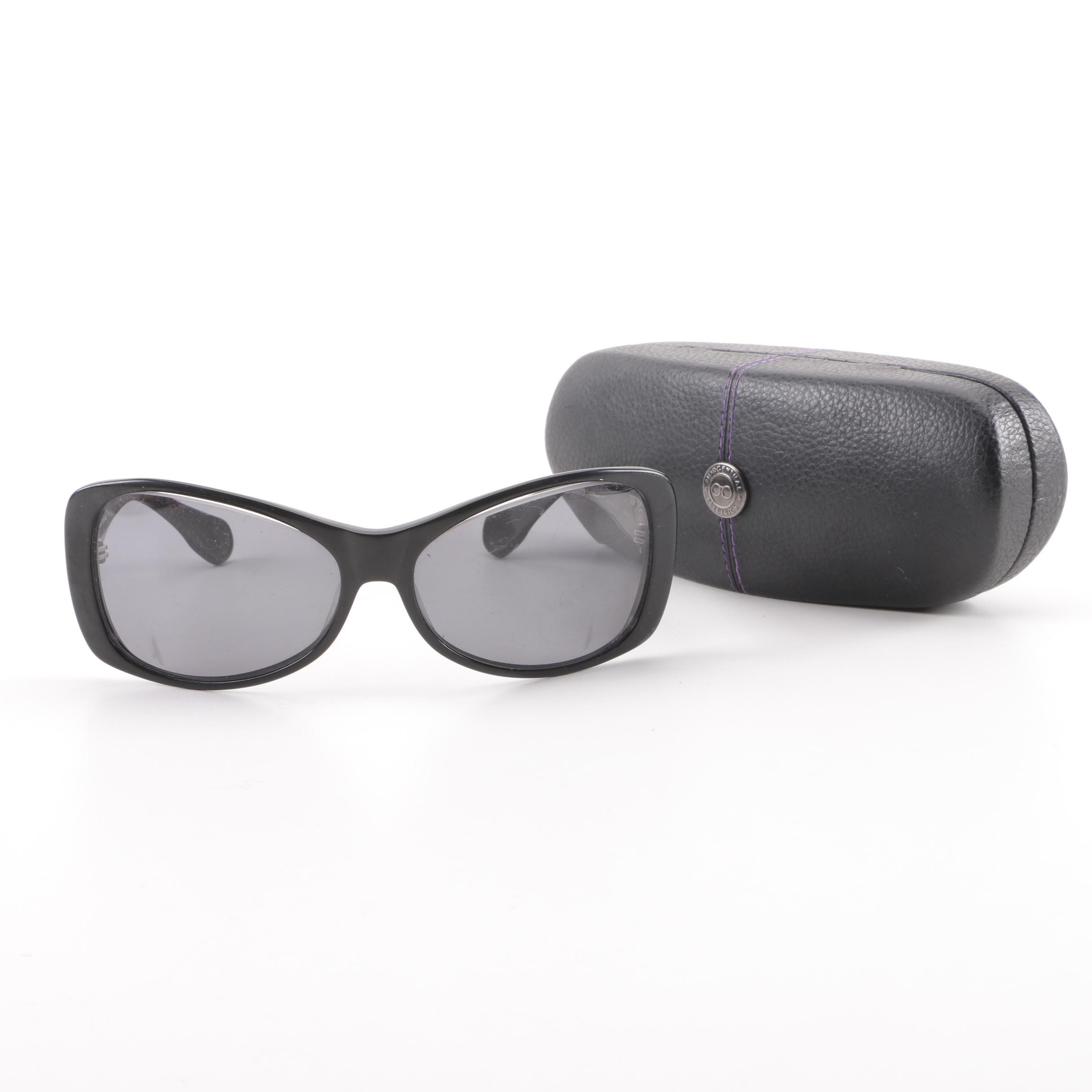 Morgenthal Frederics Madison Black Framed Sunglasses, Handmade in Japan