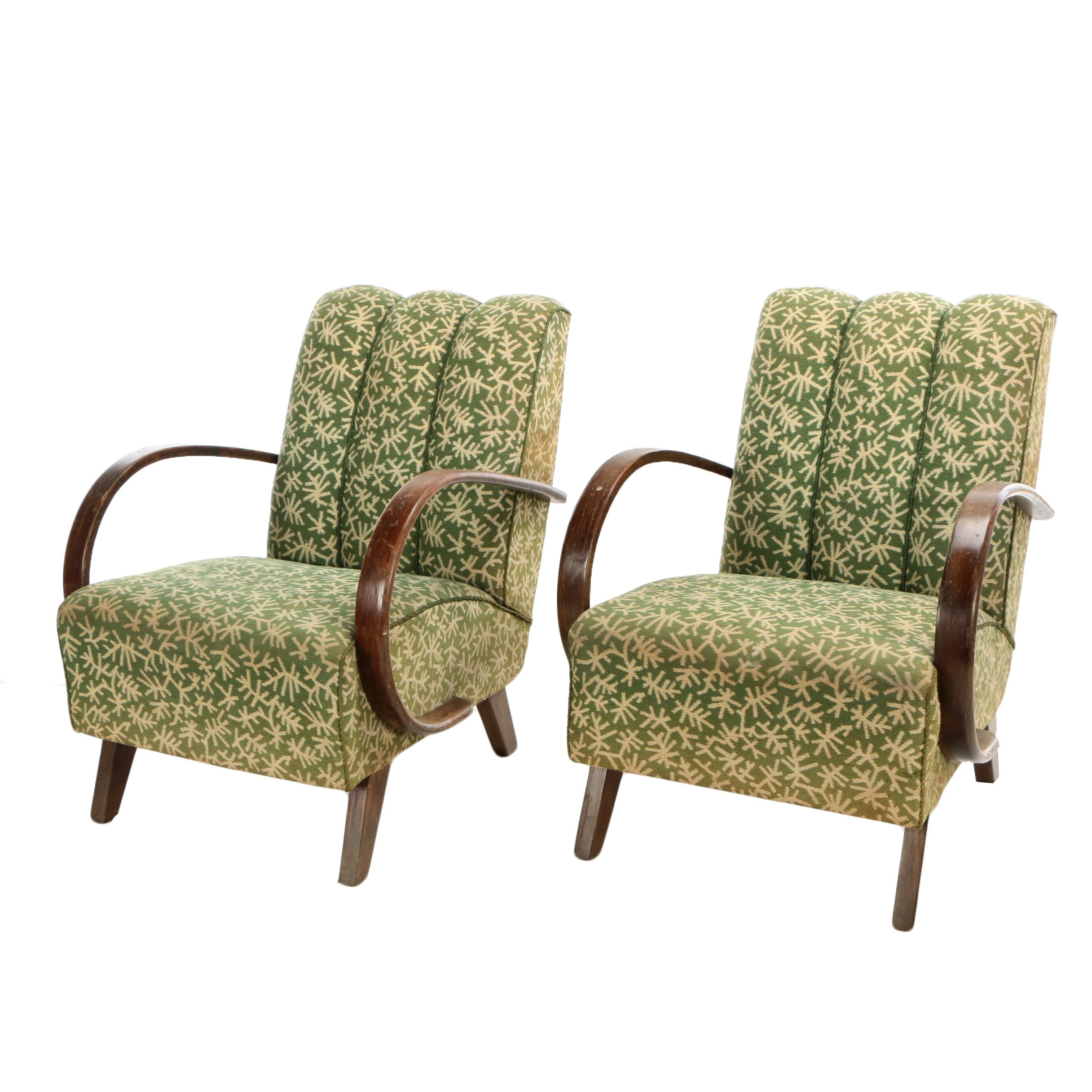 Art Deco Bentwood Armchairs in the Style of Jindřich Halabala, 20th Century