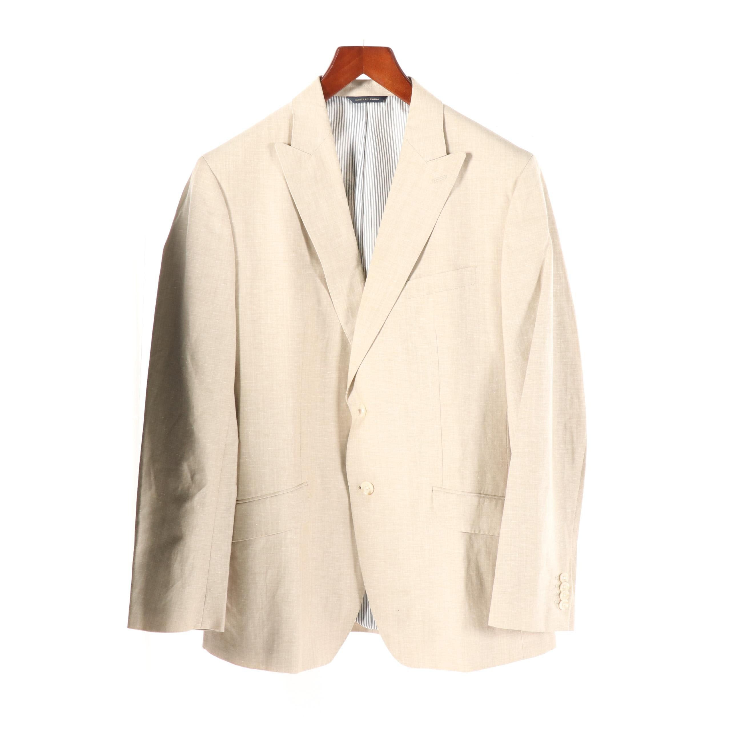 Men's Banana Republic Tailored Fit Linen Blend Jacket