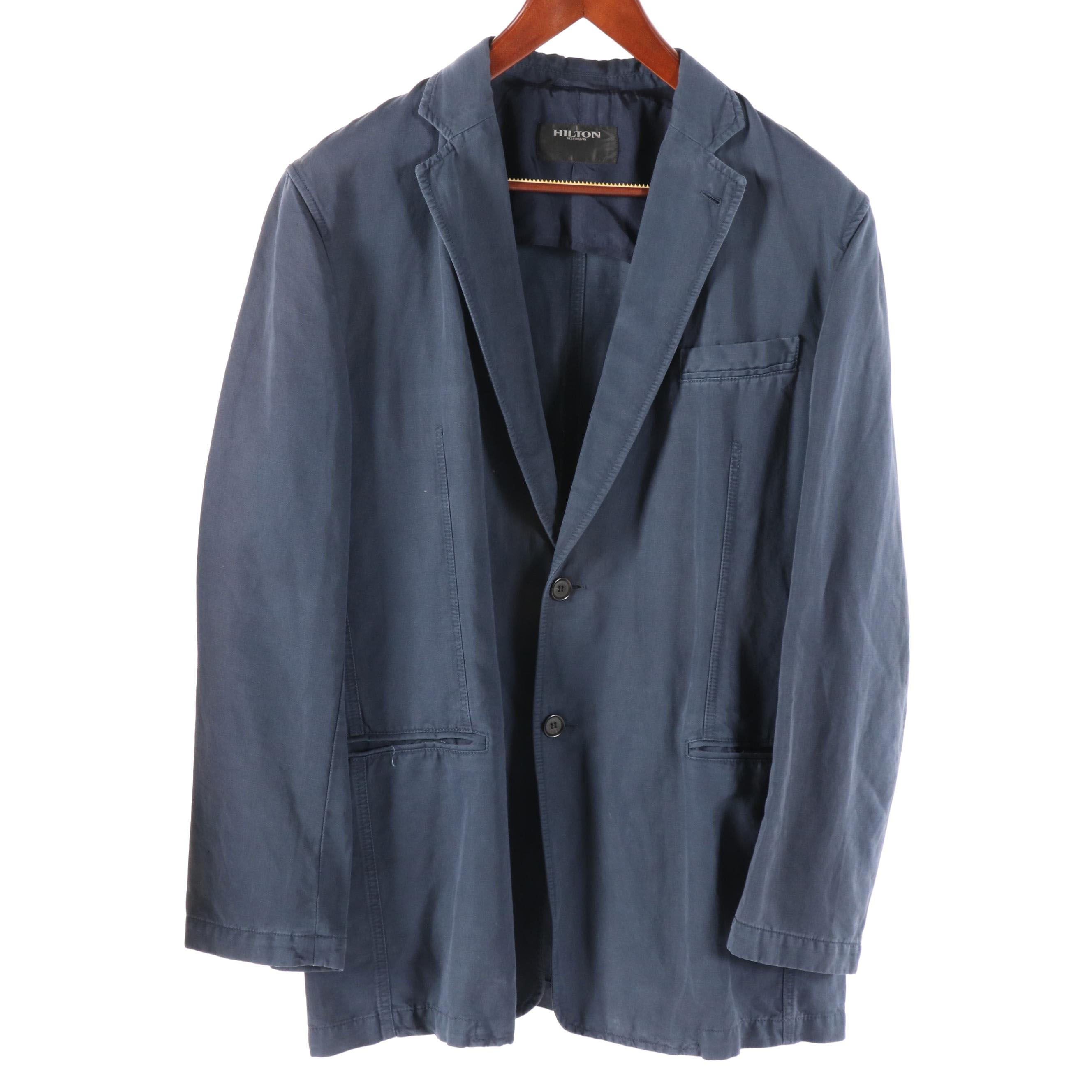 Men's Hilton Blue Cotton Jacket