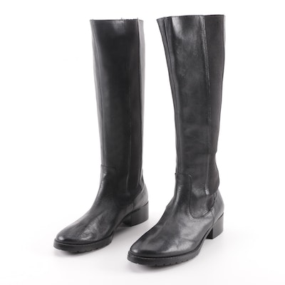 c94b4136690e Louis Vuitton Black Fur Trimmed Patent Leather Heeled Boots   EBTH