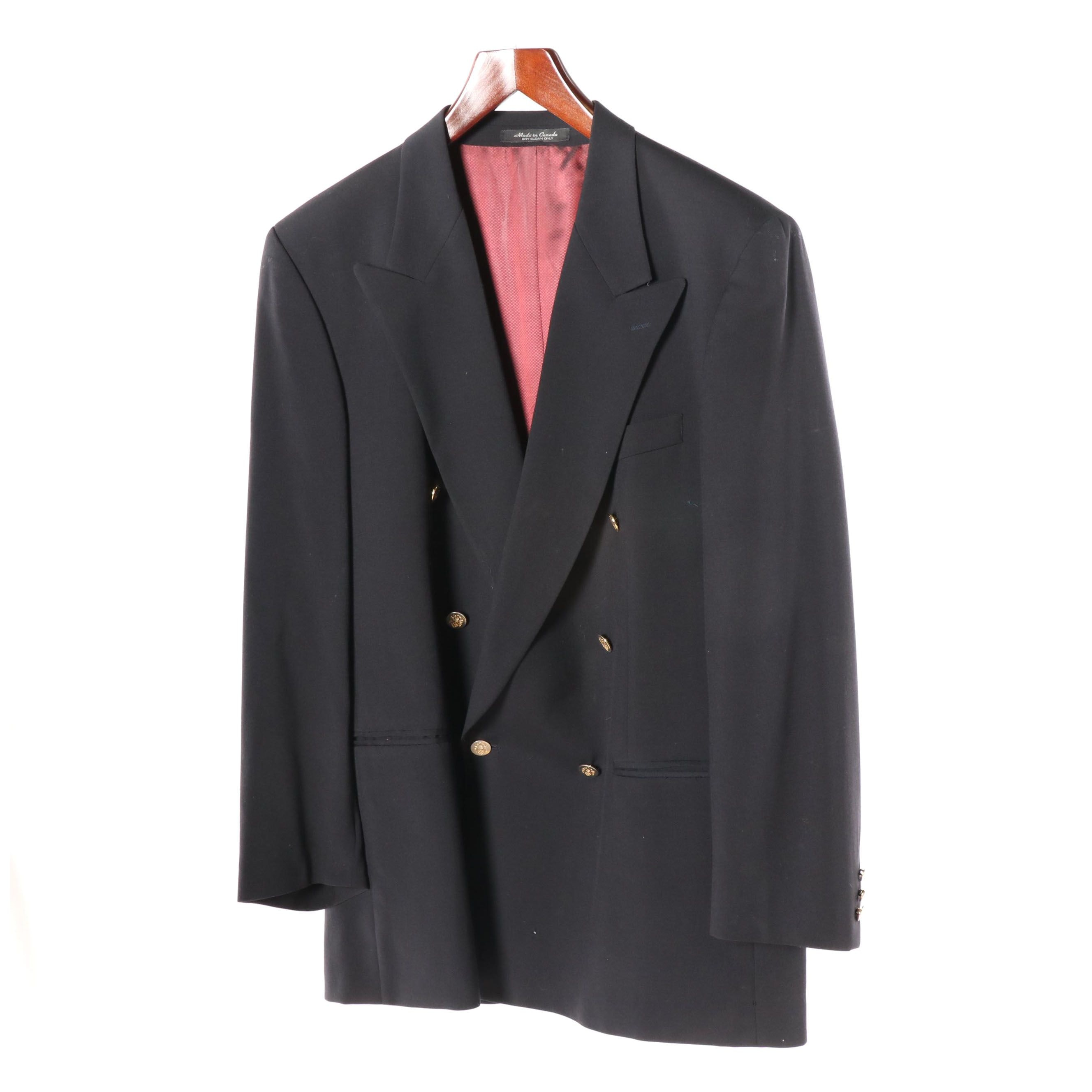 Men's Bachrach Double-Breasted Wool Jacket, Made in Canada