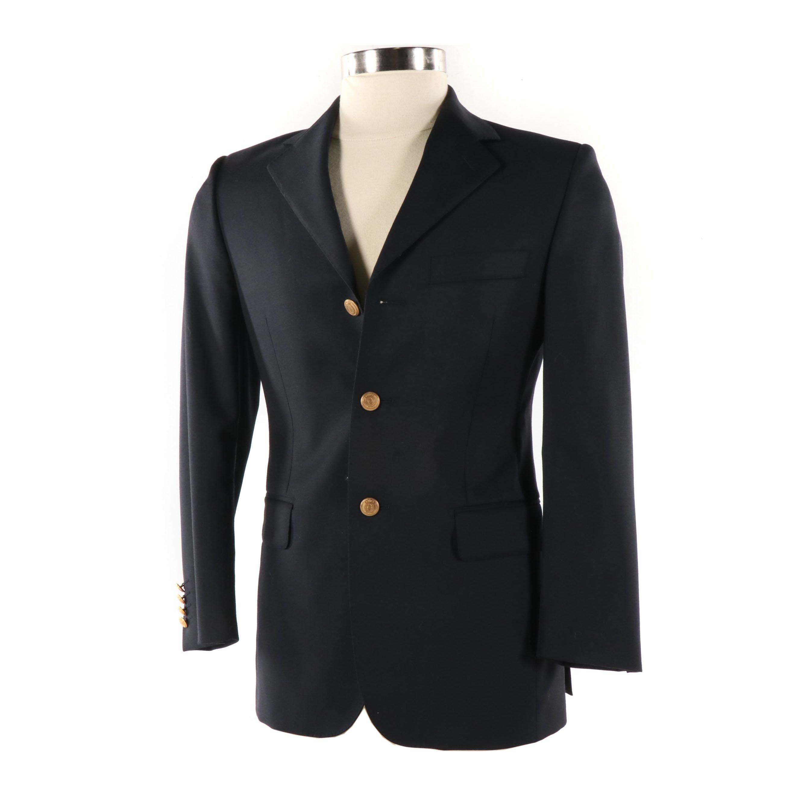 Men's Au Petit Matelot Navy Viscose Jacket