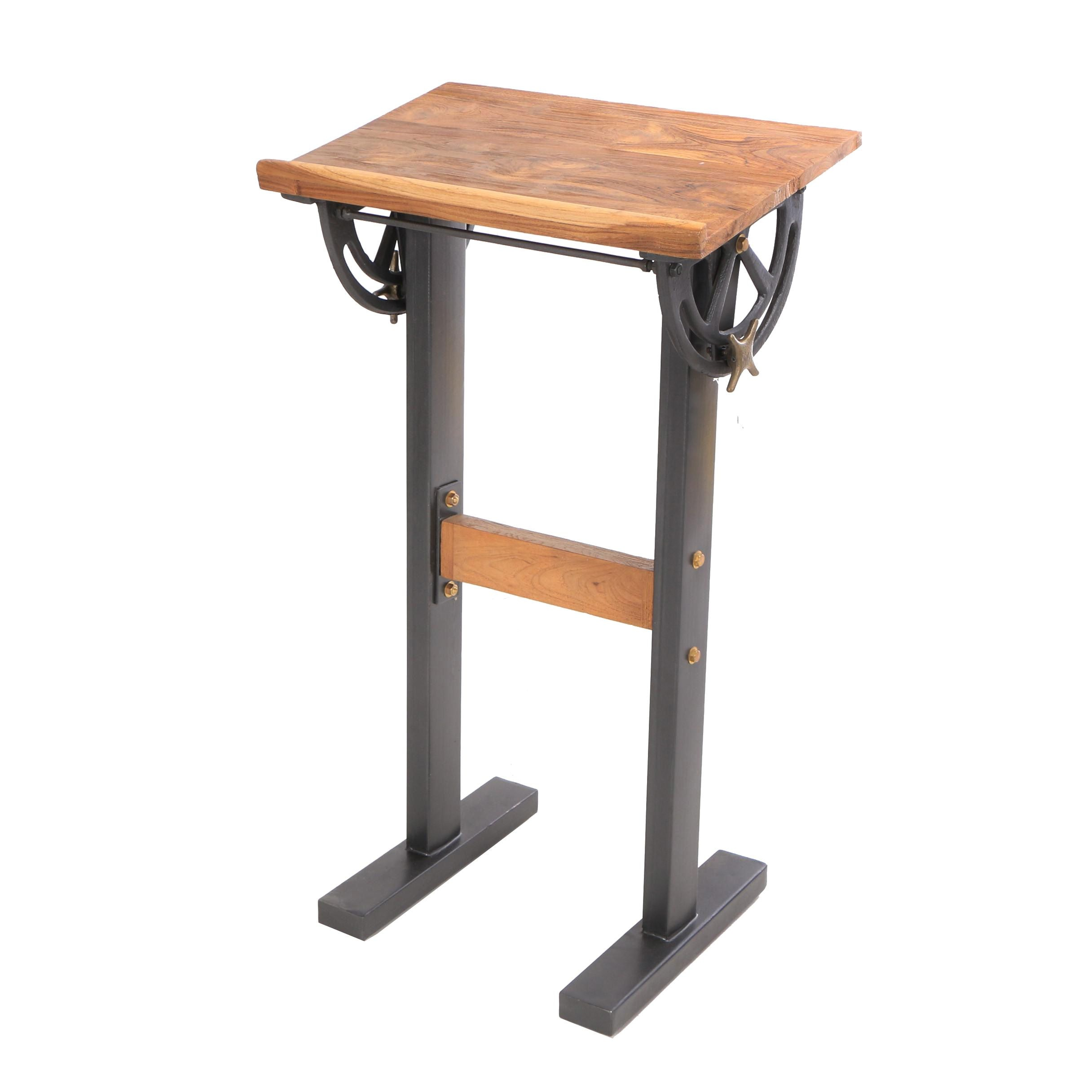 """Industrial Style """"Savile Row"""" Metal and Wood Standing Desk, 21st Century"""
