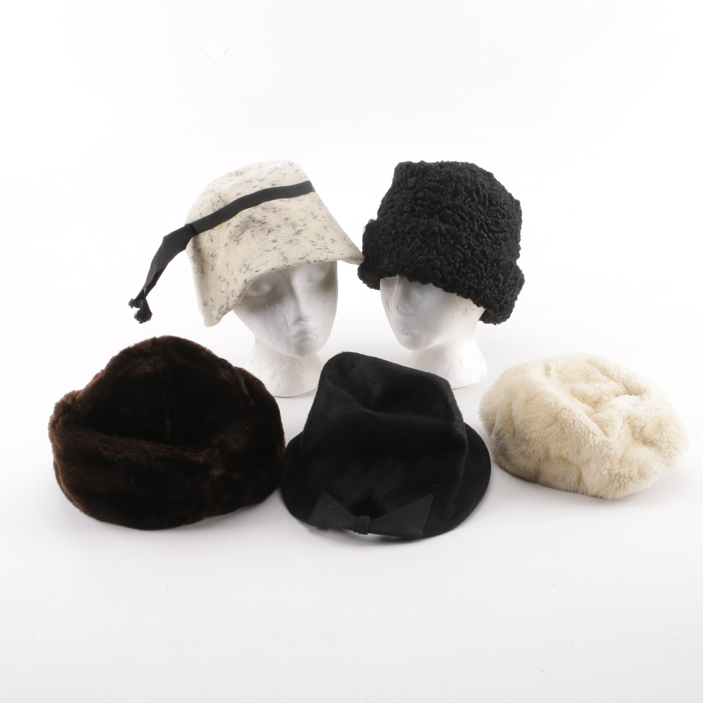 Persian Lamb Fur with Mr. John, Mr. Henri, Miss Alice and Other Faux Fur Hats