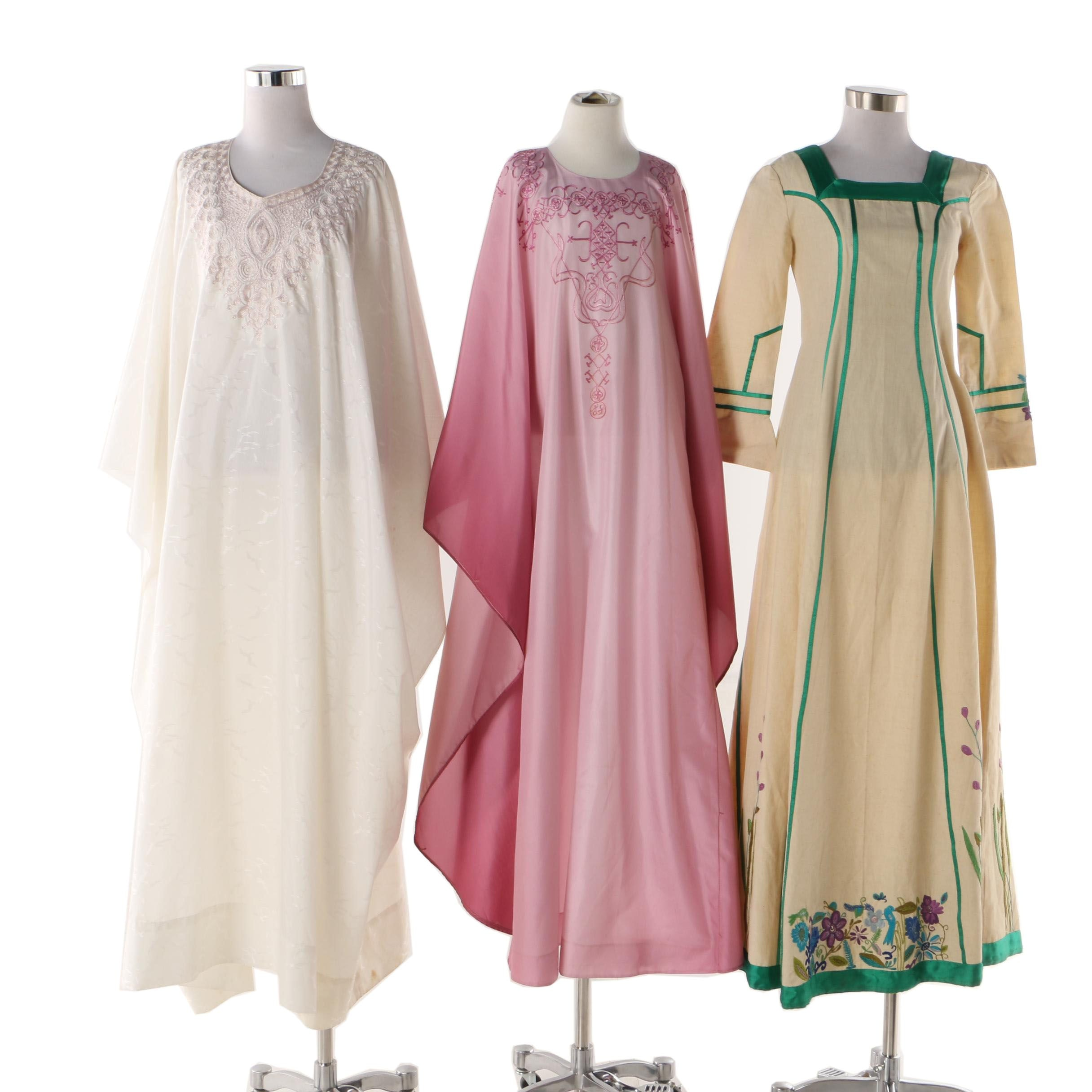 Women's Embroidered Caftans and Maxi Dress