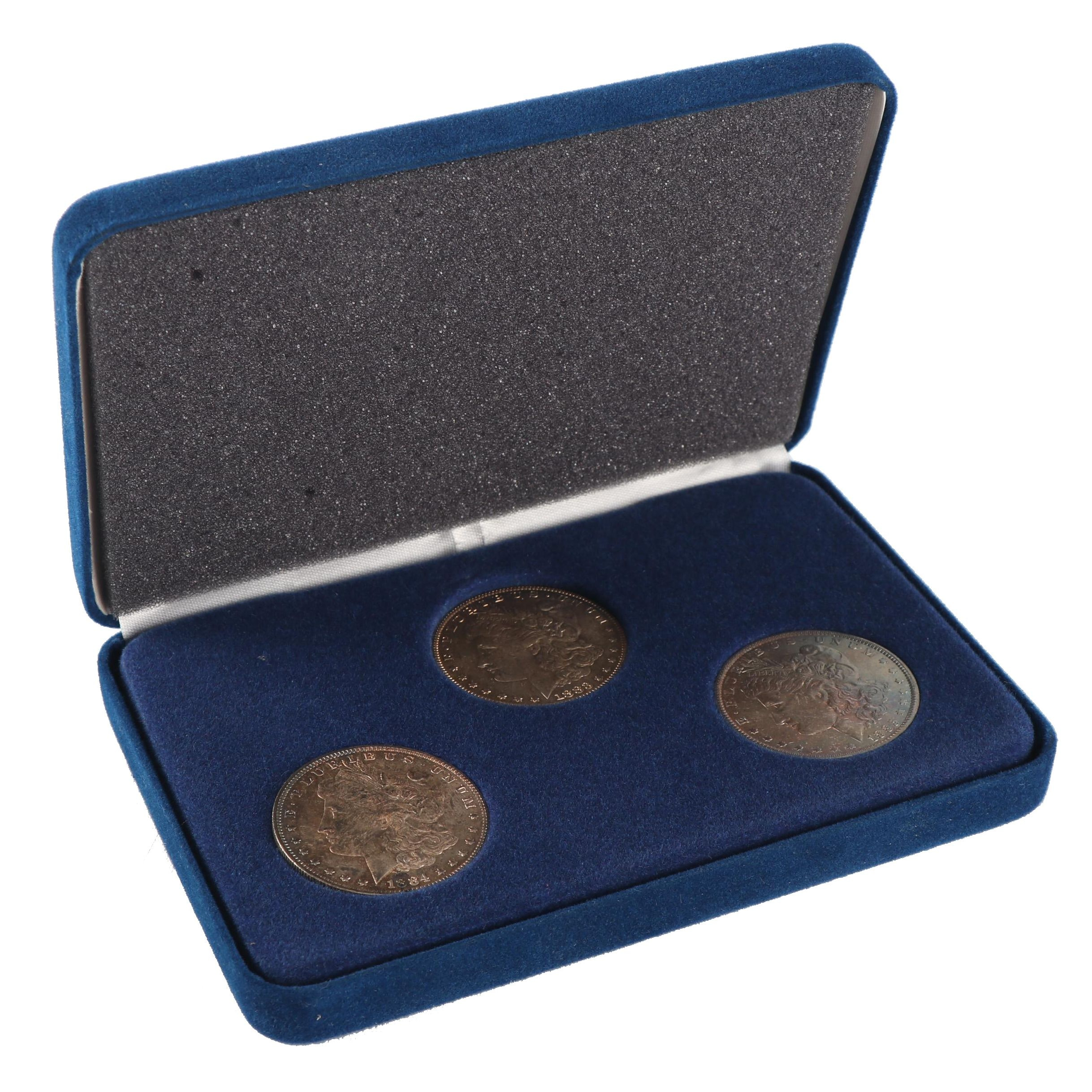 American Historical Society Set of Three New Orleans Morgan Silver Dollars