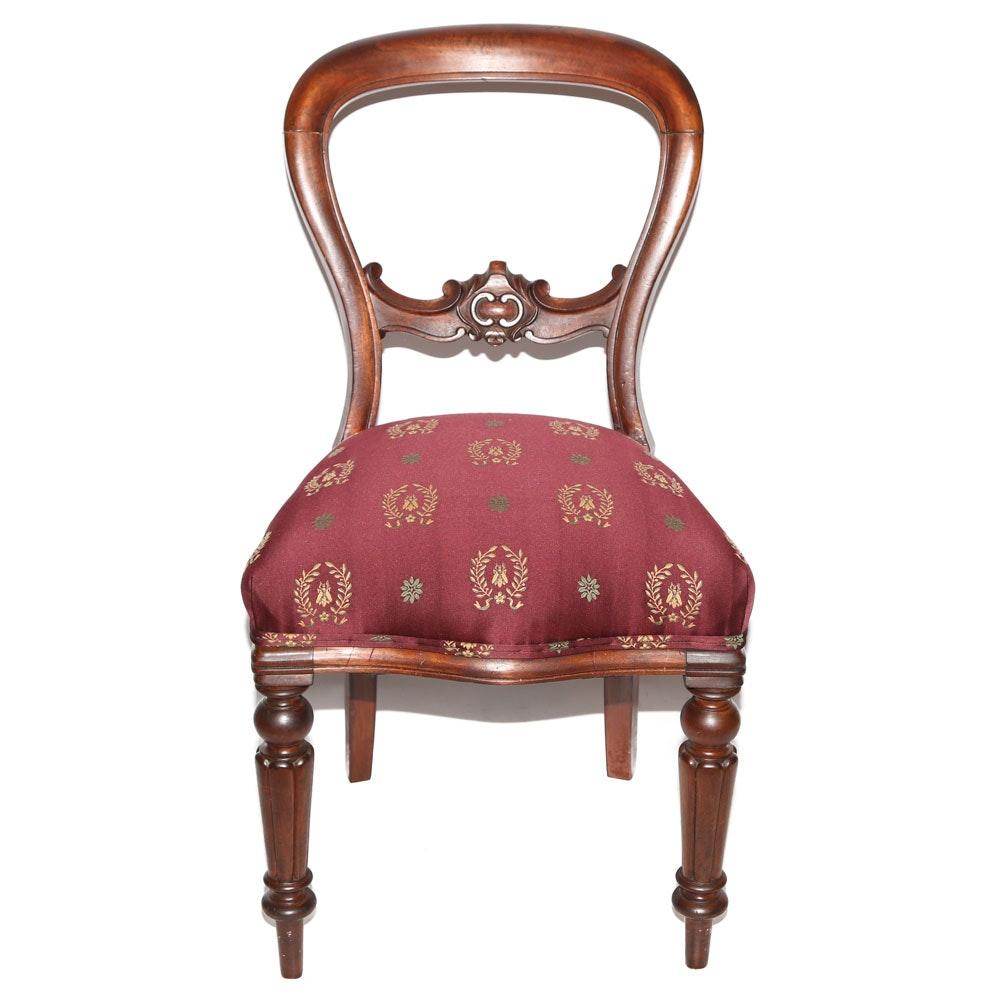 Empire Style Mahogany Balloon Chair, 20th Century