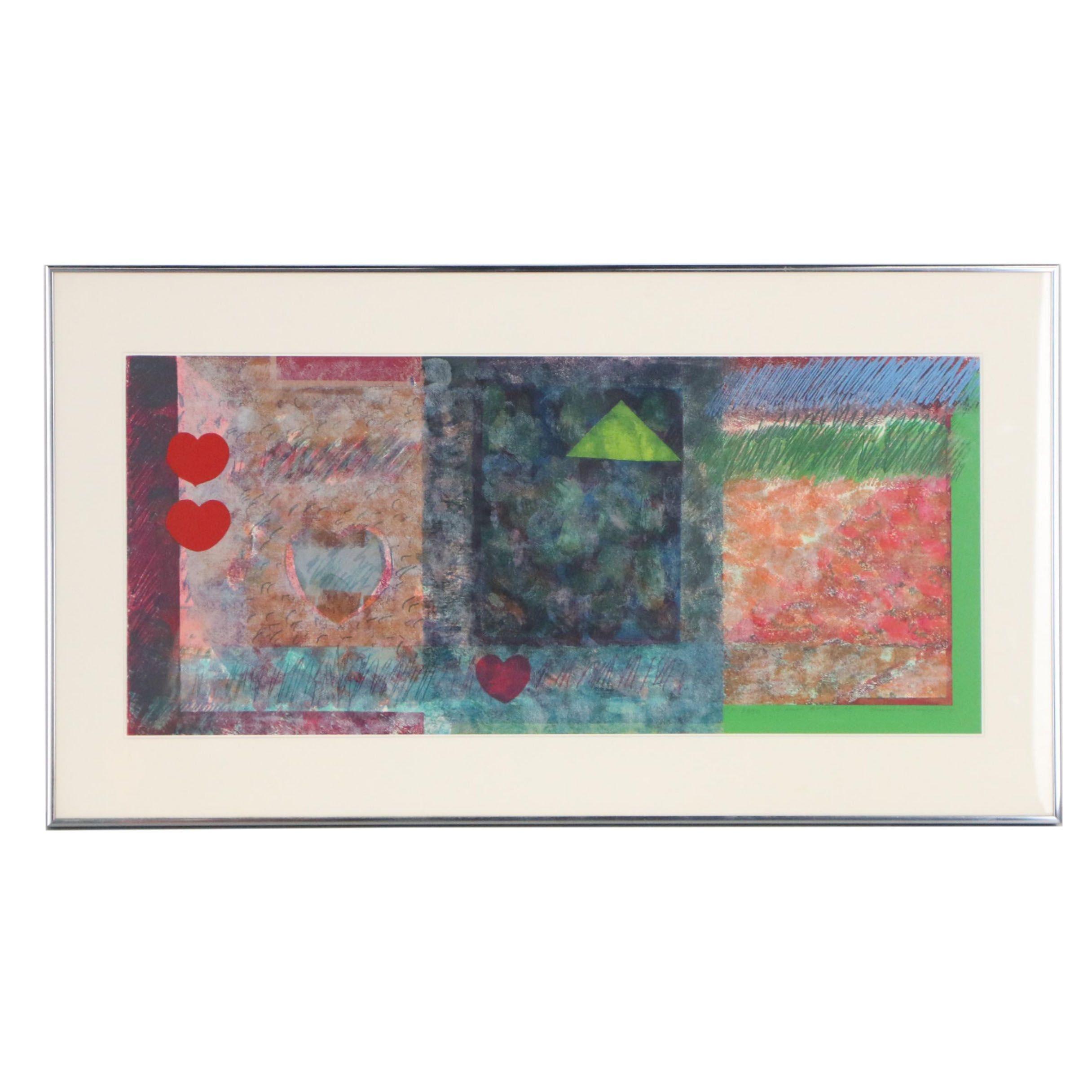 "Sam Gilliam Color Lithograph ""Marion Barry 1978"""